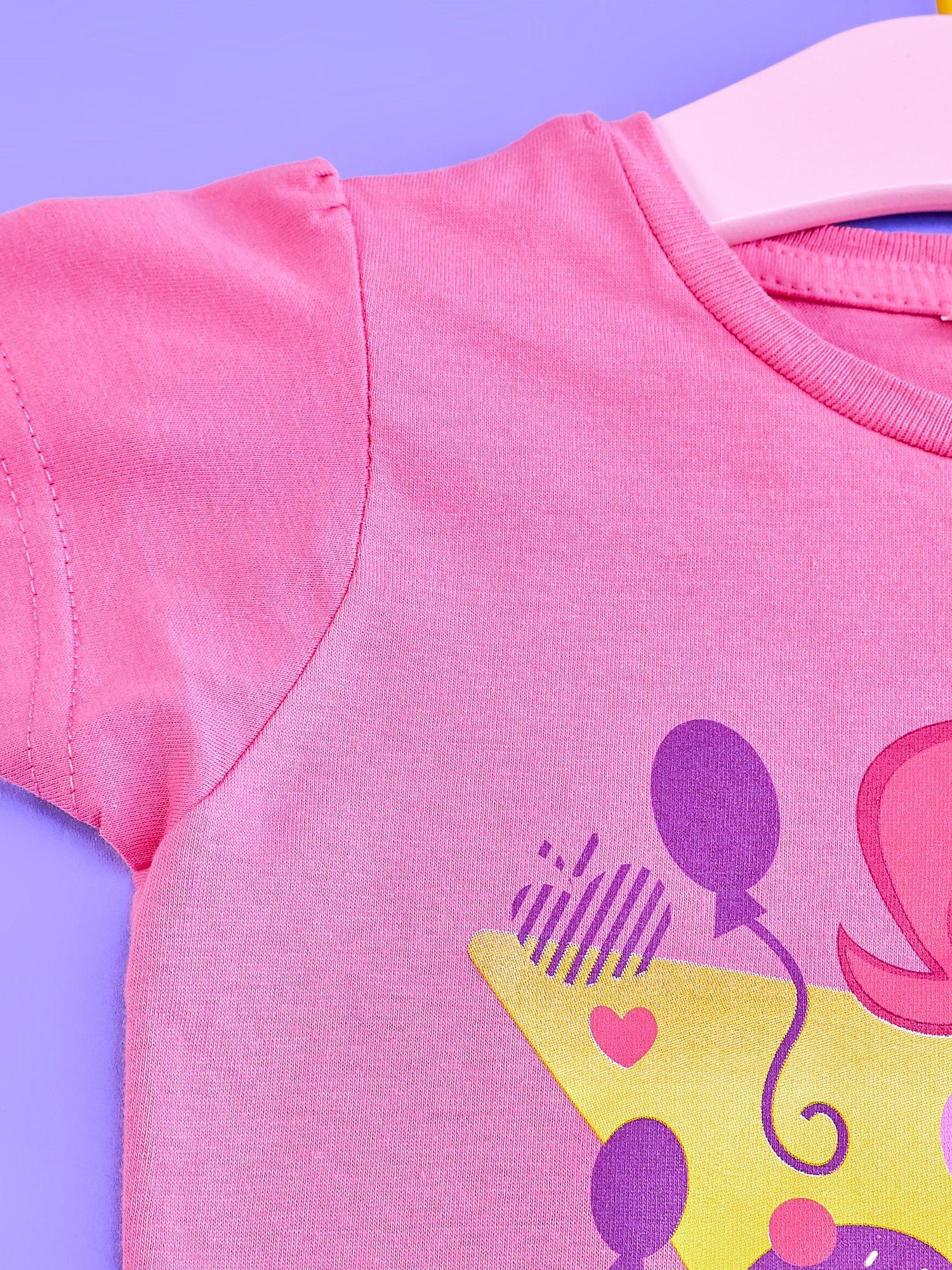 Różowy t-shirt dla dziewczynki nadruk MY LITTLE PONY                                  zdj.                                  3