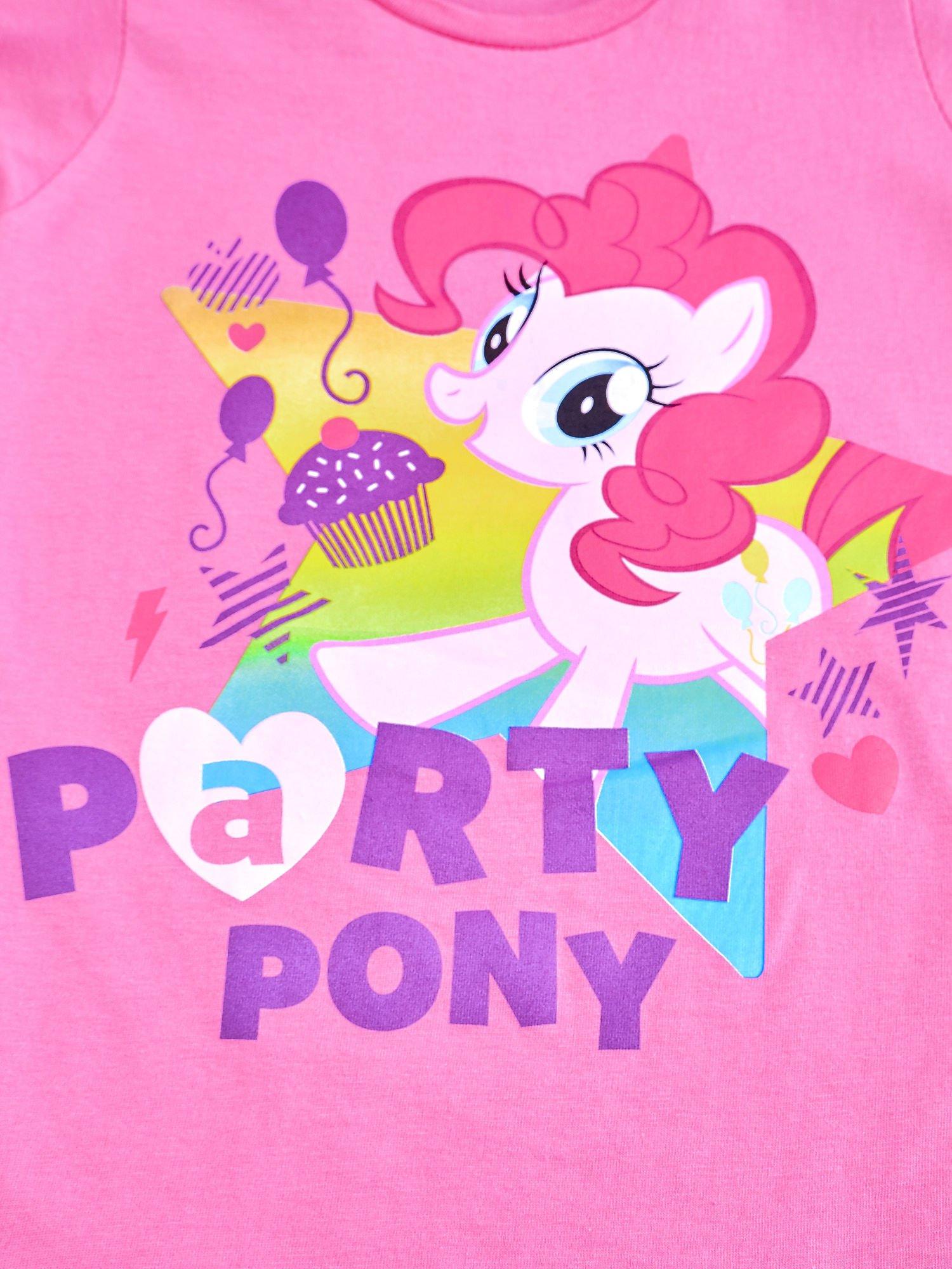 Różowy t-shirt dla dziewczynki nadruk MY LITTLE PONY                                  zdj.                                  4