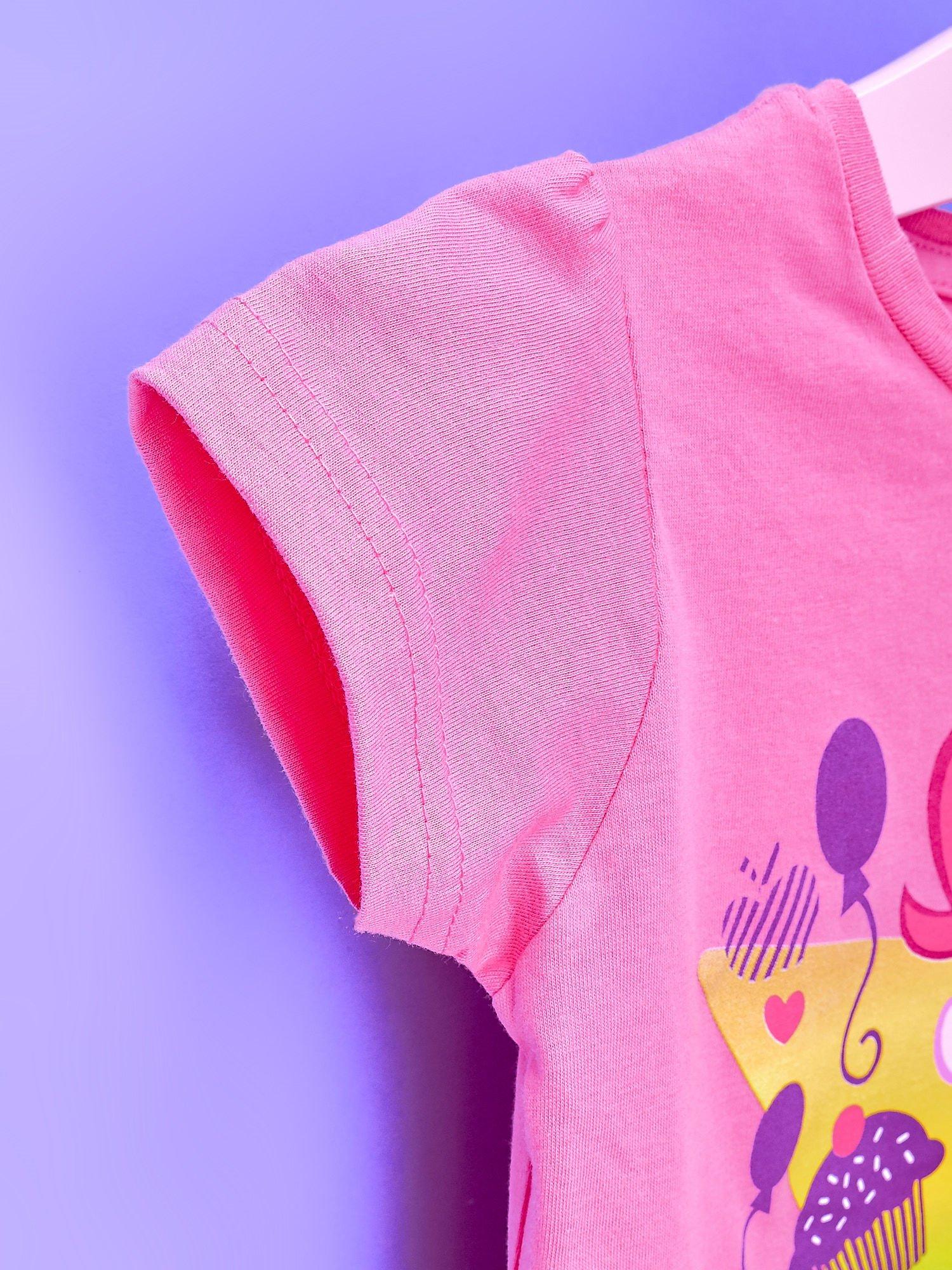 Różowy t-shirt dla dziewczynki nadruk MY LITTLE PONY                                  zdj.                                  6