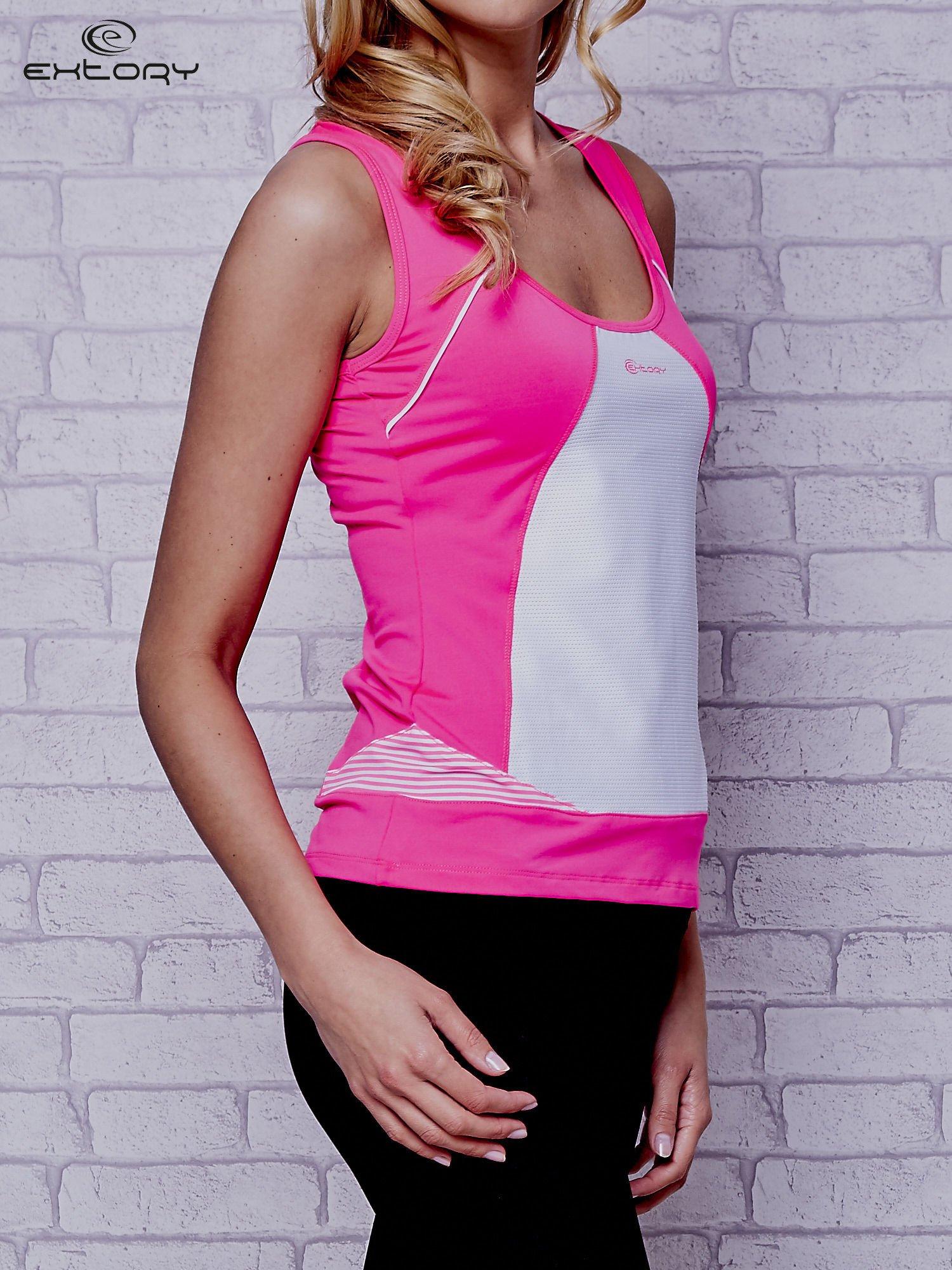 Różowy top sportowy na fitness                                  zdj.                                  3