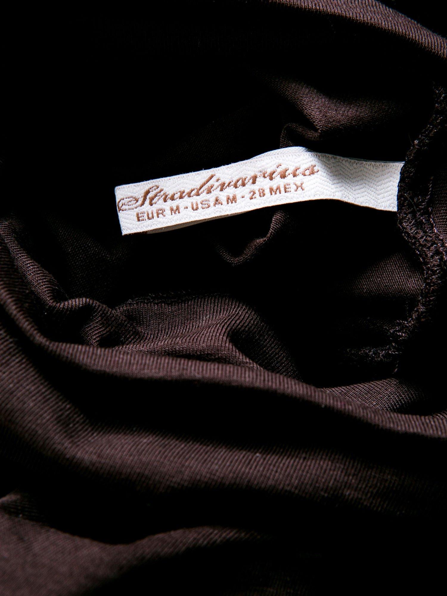STRADIVARIUS Brązowa bluzka basic z golfem                                  zdj.                                  3