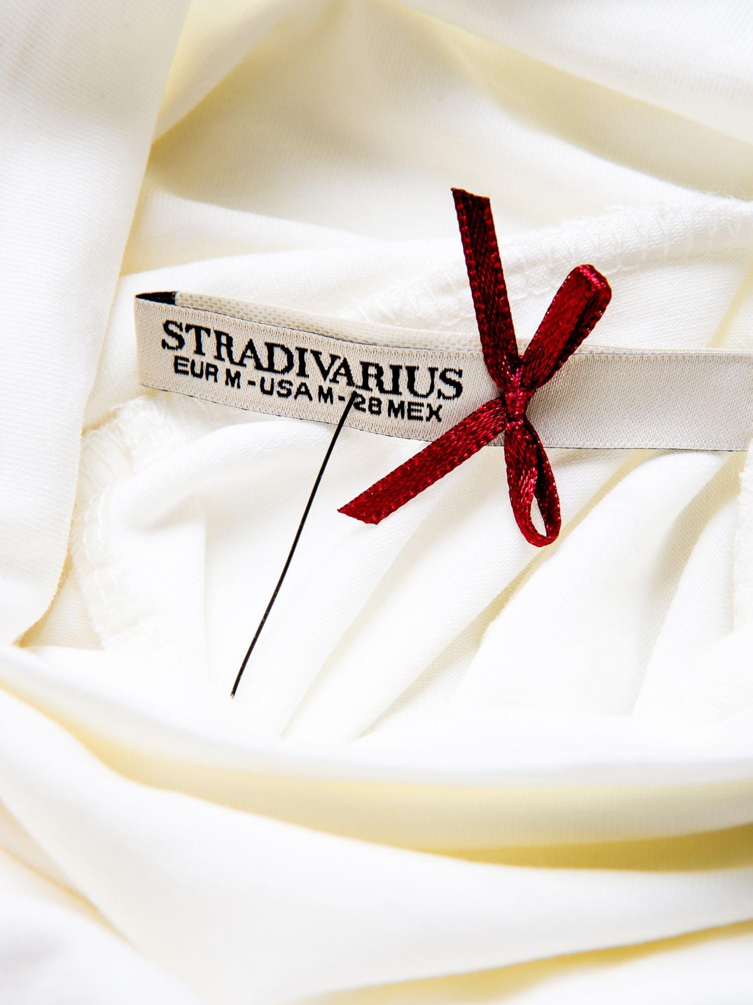 STRADIVARIUS Ecru bluzka basic z golfem                                  zdj.                                  3