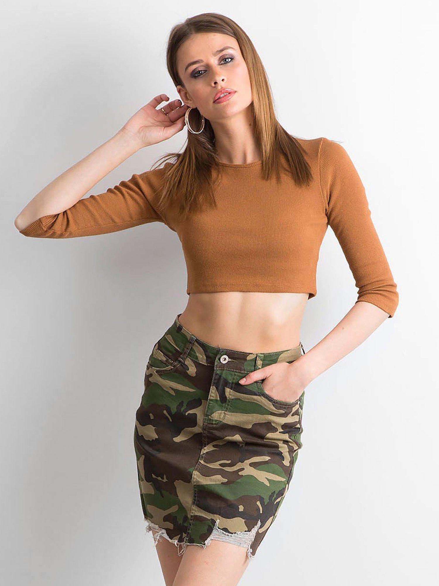Spódnica mini we wzór moro Spódnica jeansowa sklep eButik.pl