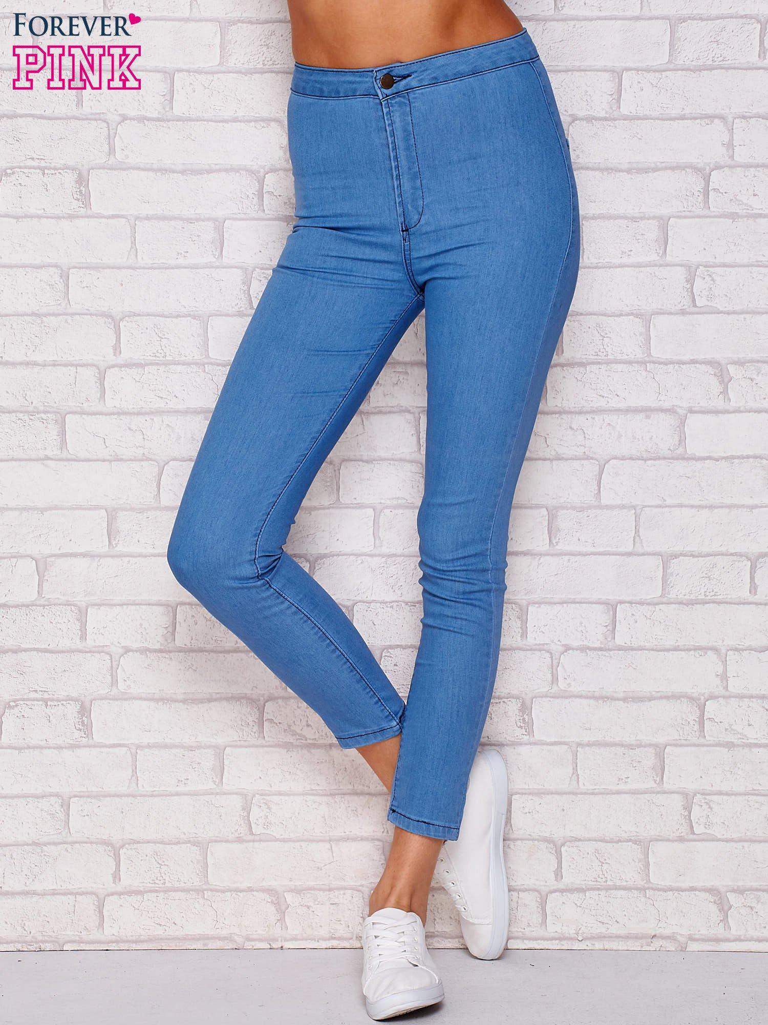 fb0f3467d1df16 Spodnie jeansowe regular niebieskie - Spodnie jeansowe - sklep eButik.pl