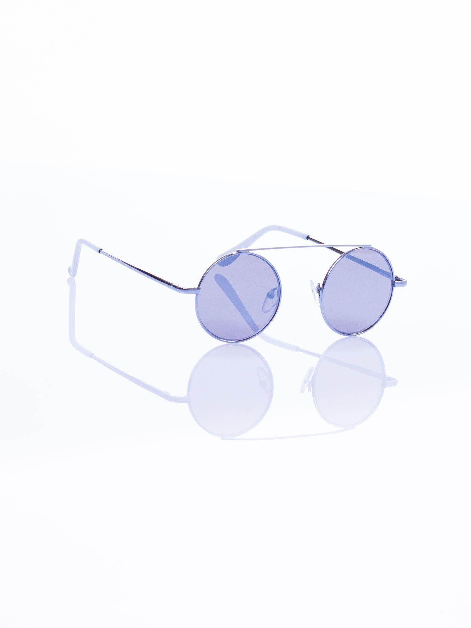 Srebrne okulary przeciwsłoneczne LENONKI lustrzanka                                  zdj.                                  3
