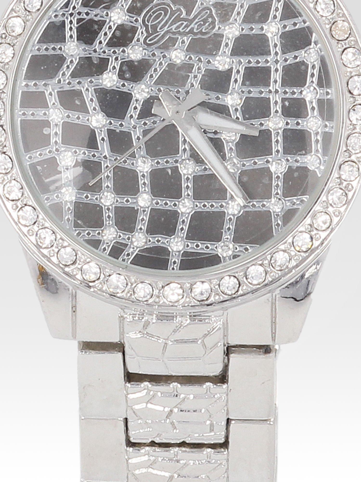 Srebrny zegarek damski na bransolecie z cyrkoniową kopertą                                  zdj.                                  5
