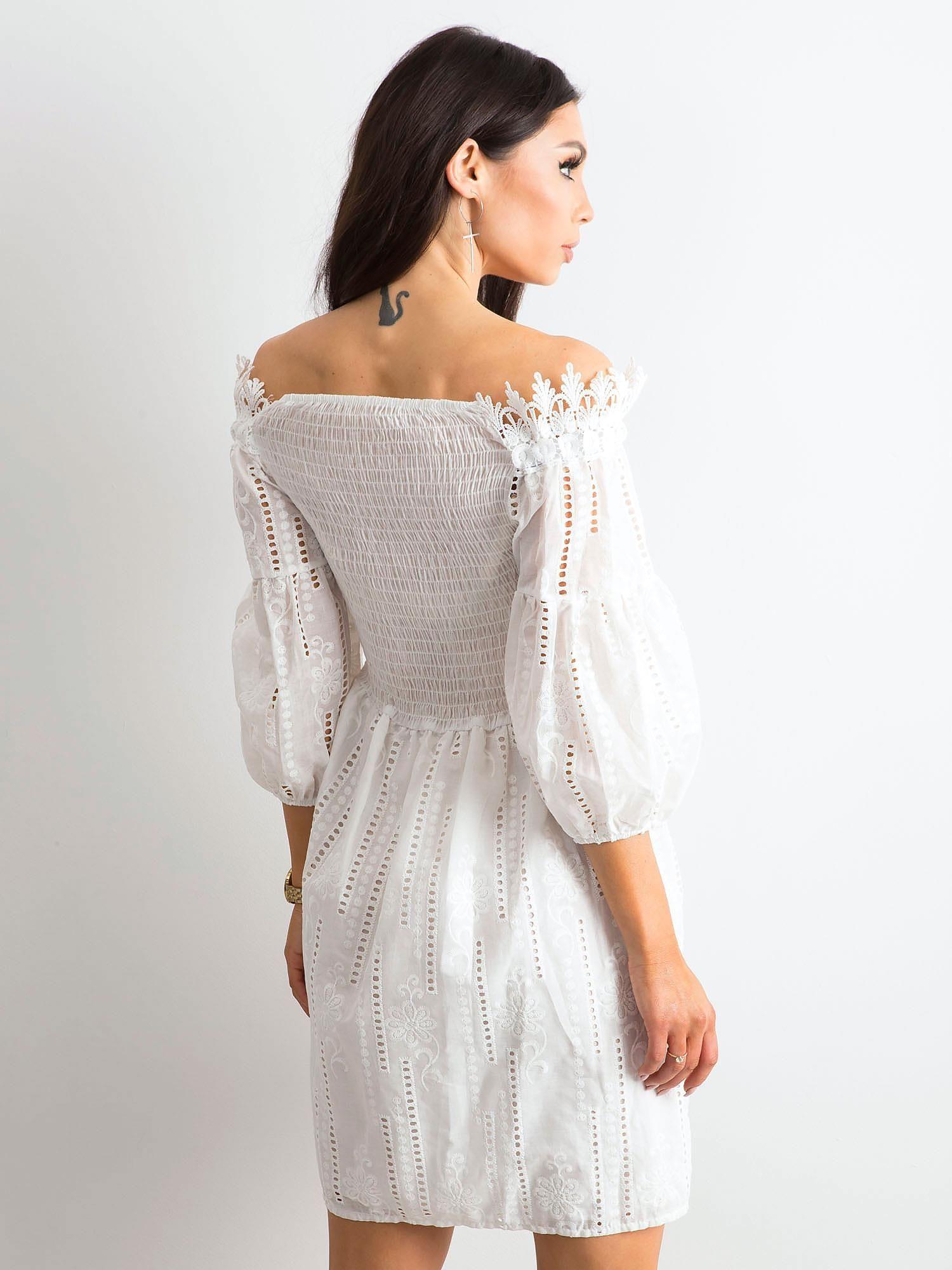 2206afb1932 Sukienka boho biała - Sukienka z koronką - sklep eButik.pl
