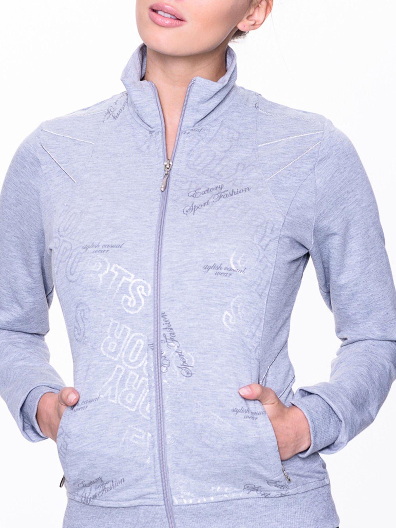 Szara bluza sportowa z logo EXTORY                                  zdj.                                  4