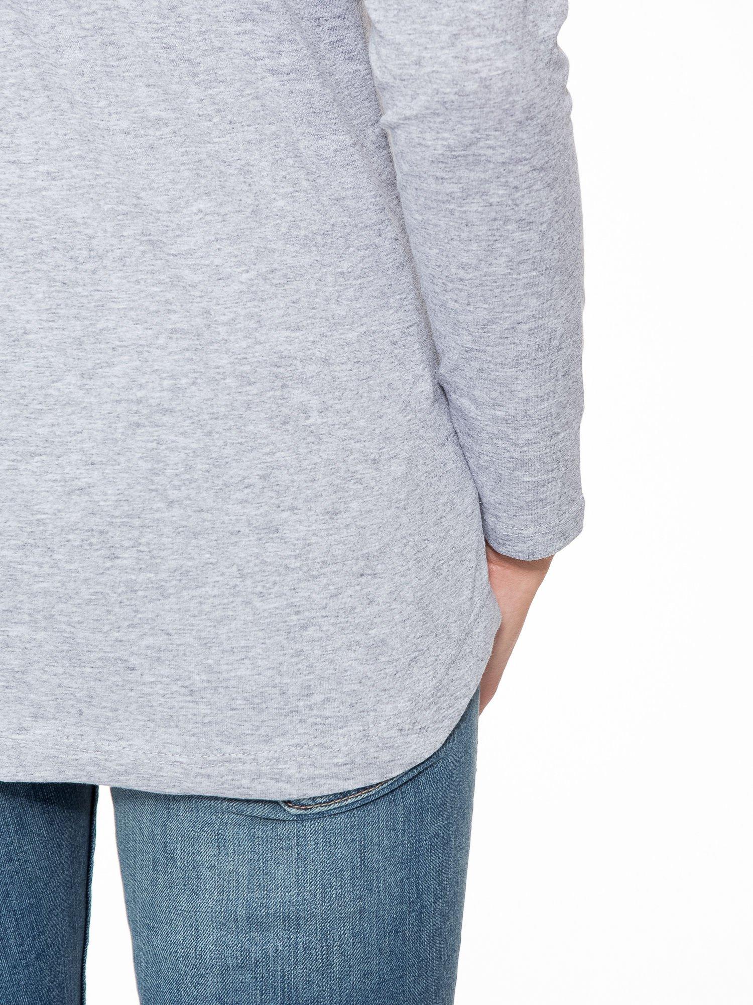 Szara bluzka w stylu fashion                                  zdj.                                  9