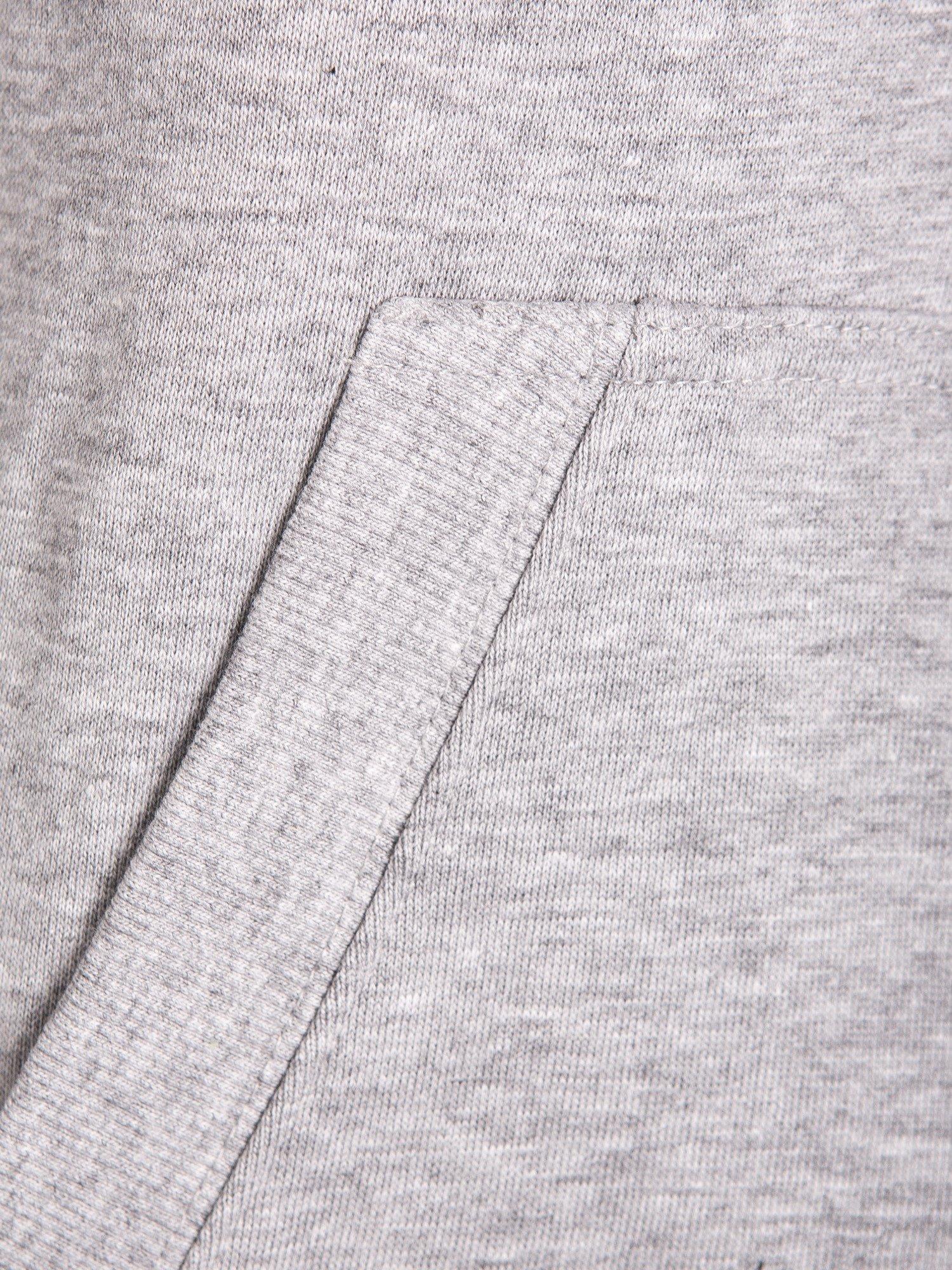 Szara dresowa bluza sportowa z kapturem                                  zdj.                                  8