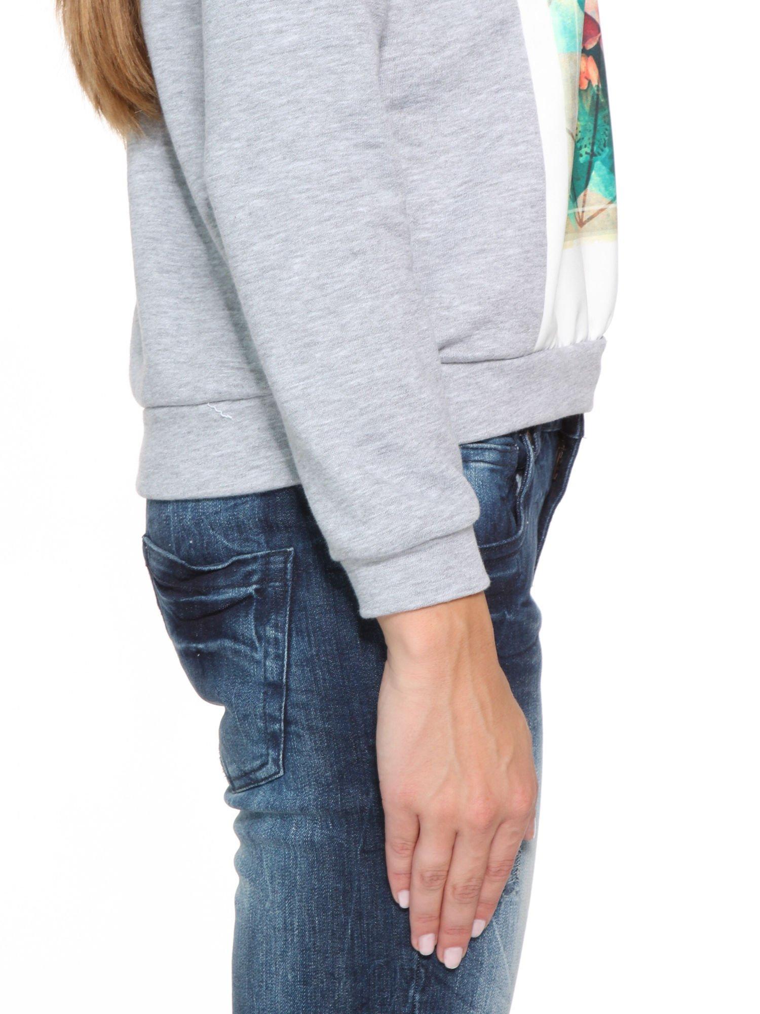 Szara dresowa bluza z nadrukiem CALIFORNIA LA                                  zdj.                                  9