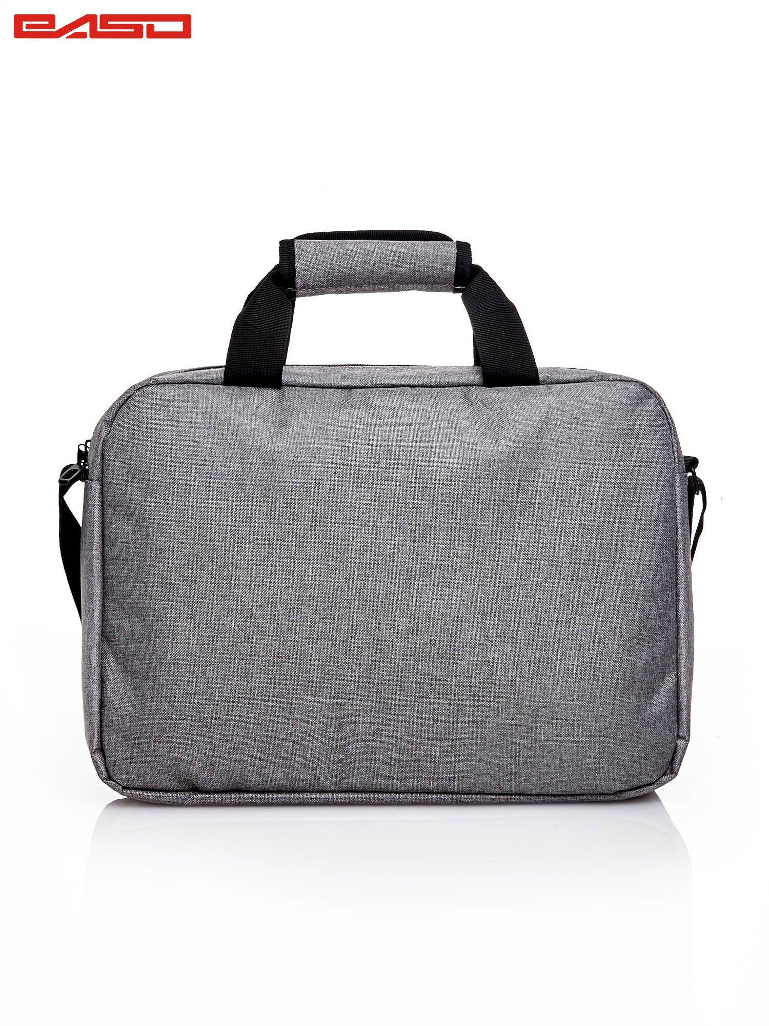 Szara gładka torba na laptopa                                   zdj.                                  3