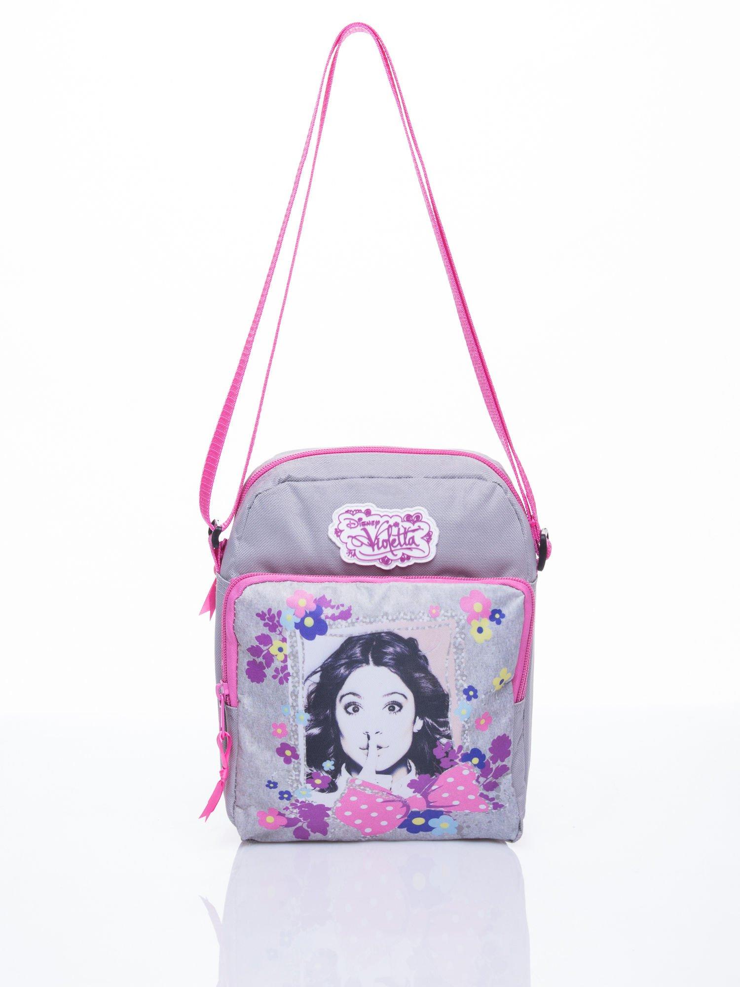 Szara pionowa torba szkolna DISNEY Violetta                                  zdj.                                  1
