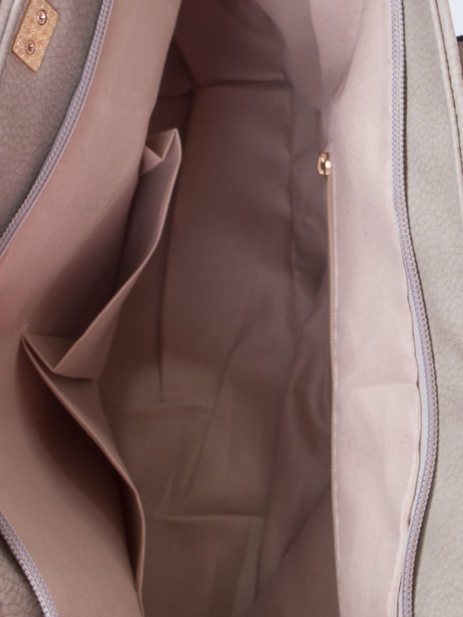 Szara prosta torba shopper bag                                  zdj.                                  5