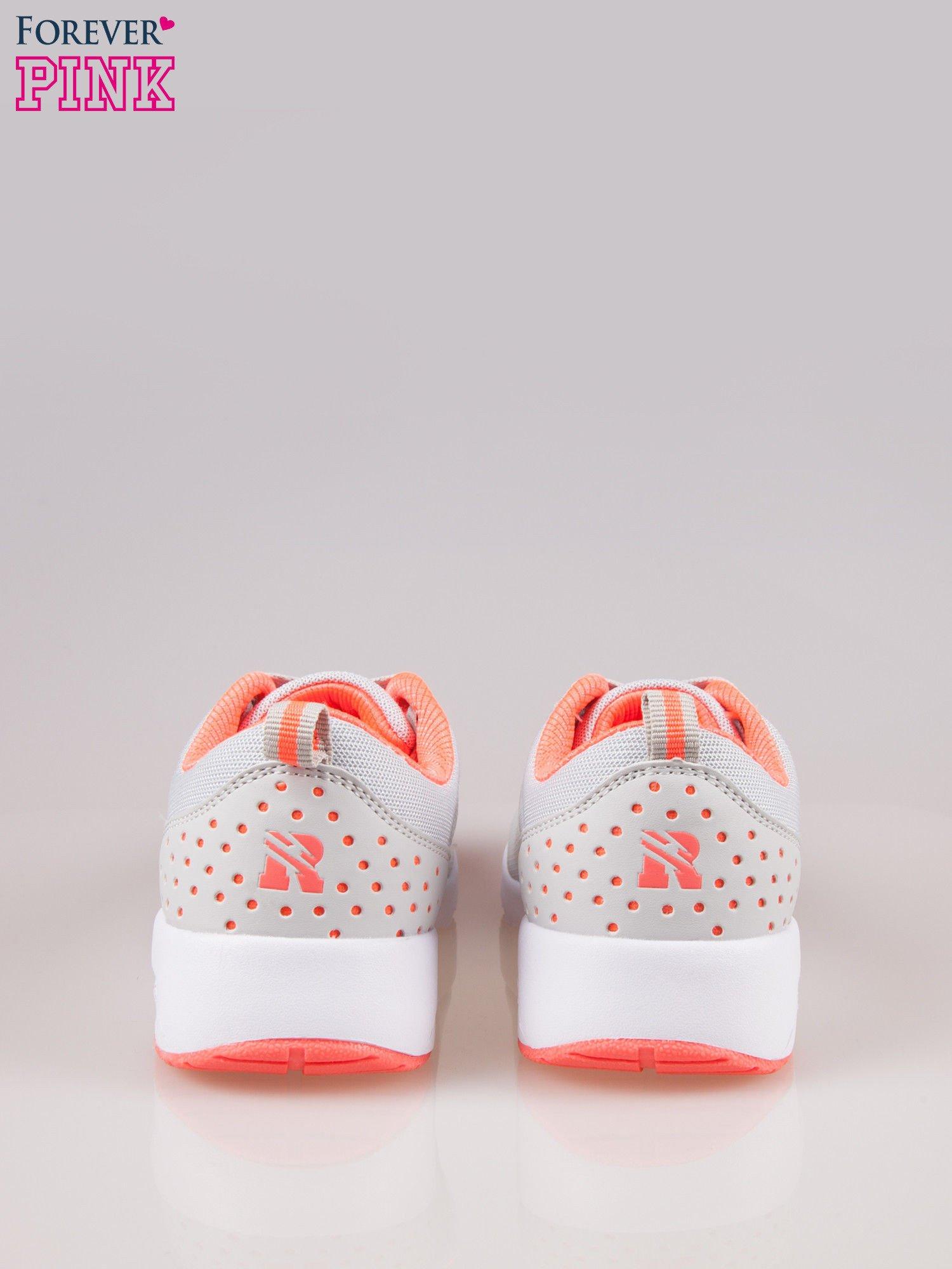 Szare buty sportowe New York z siateczką i poduszką powietrzną w podeszwie                                  zdj.                                  3