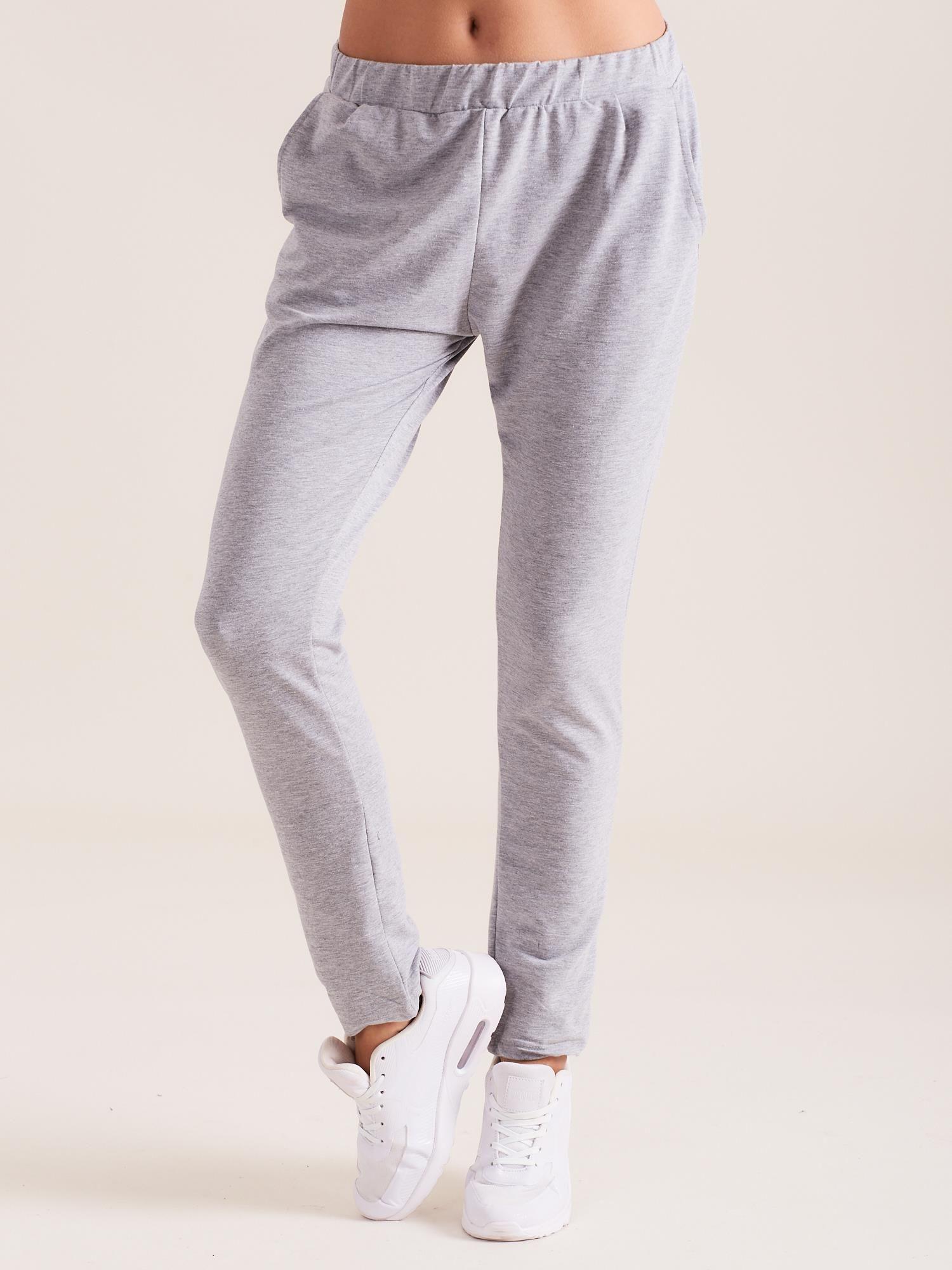 12a8062ea Szare damskie bawełniane spodnie dresowe - Spodnie Dresowe - sklep ...