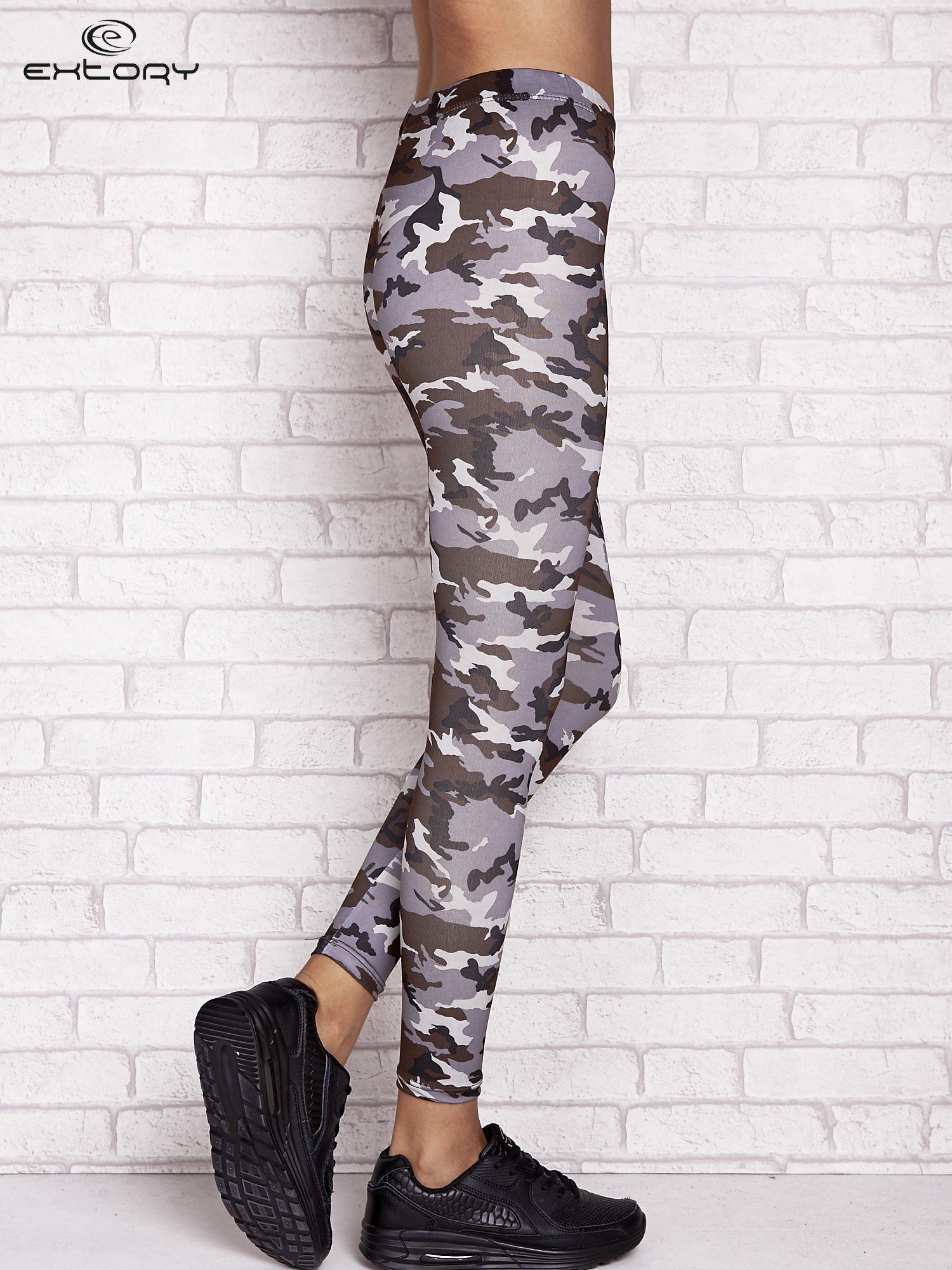 Szare legginsy z nadrukiem moro                                  zdj.                                  2