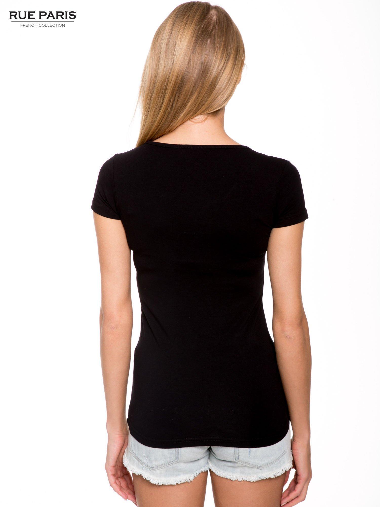 Szary gładki t-shirt                                  zdj.                                  3