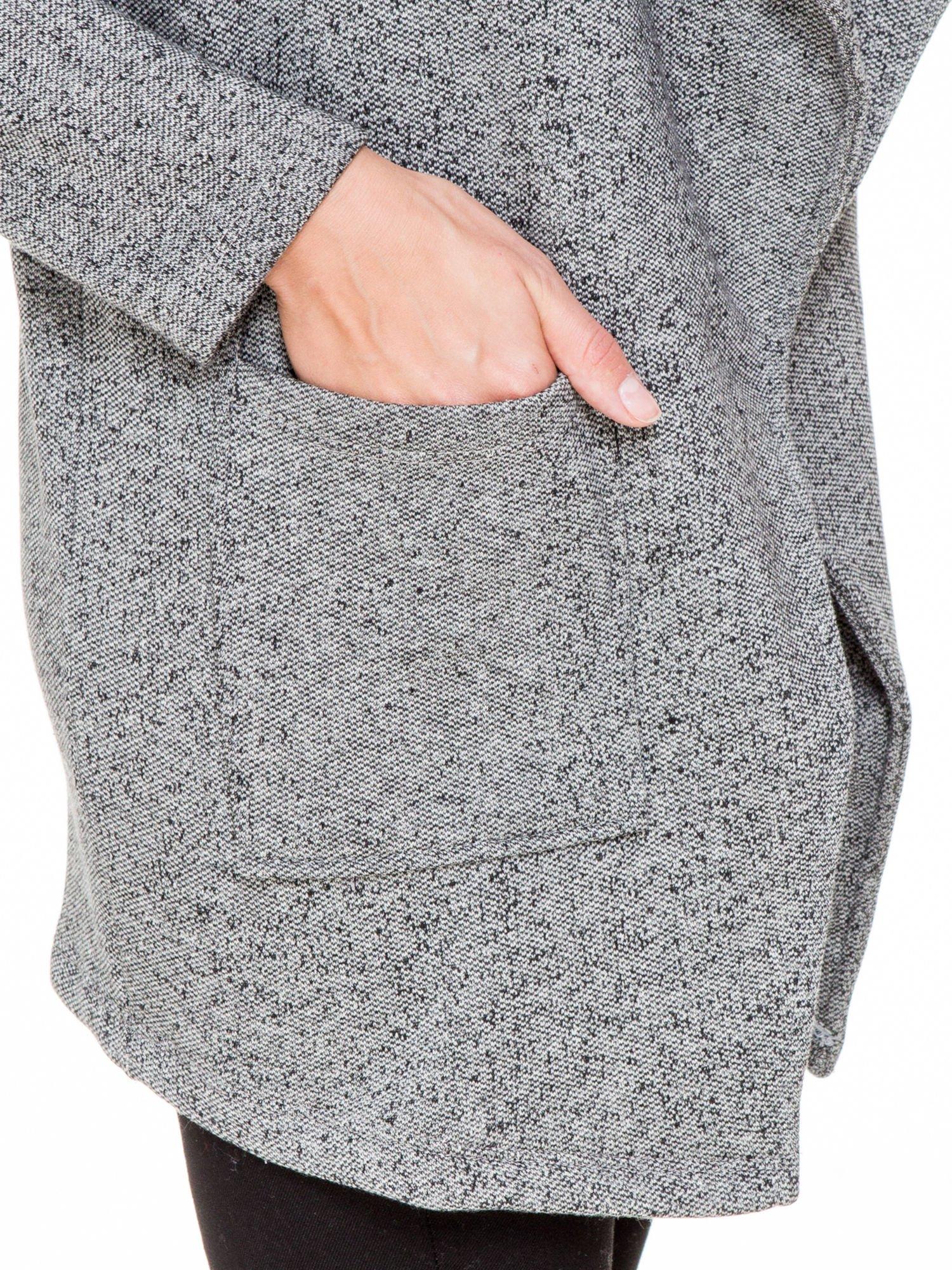 Szary melanżowy bluzożakiet z kieszeniami                                  zdj.                                  7