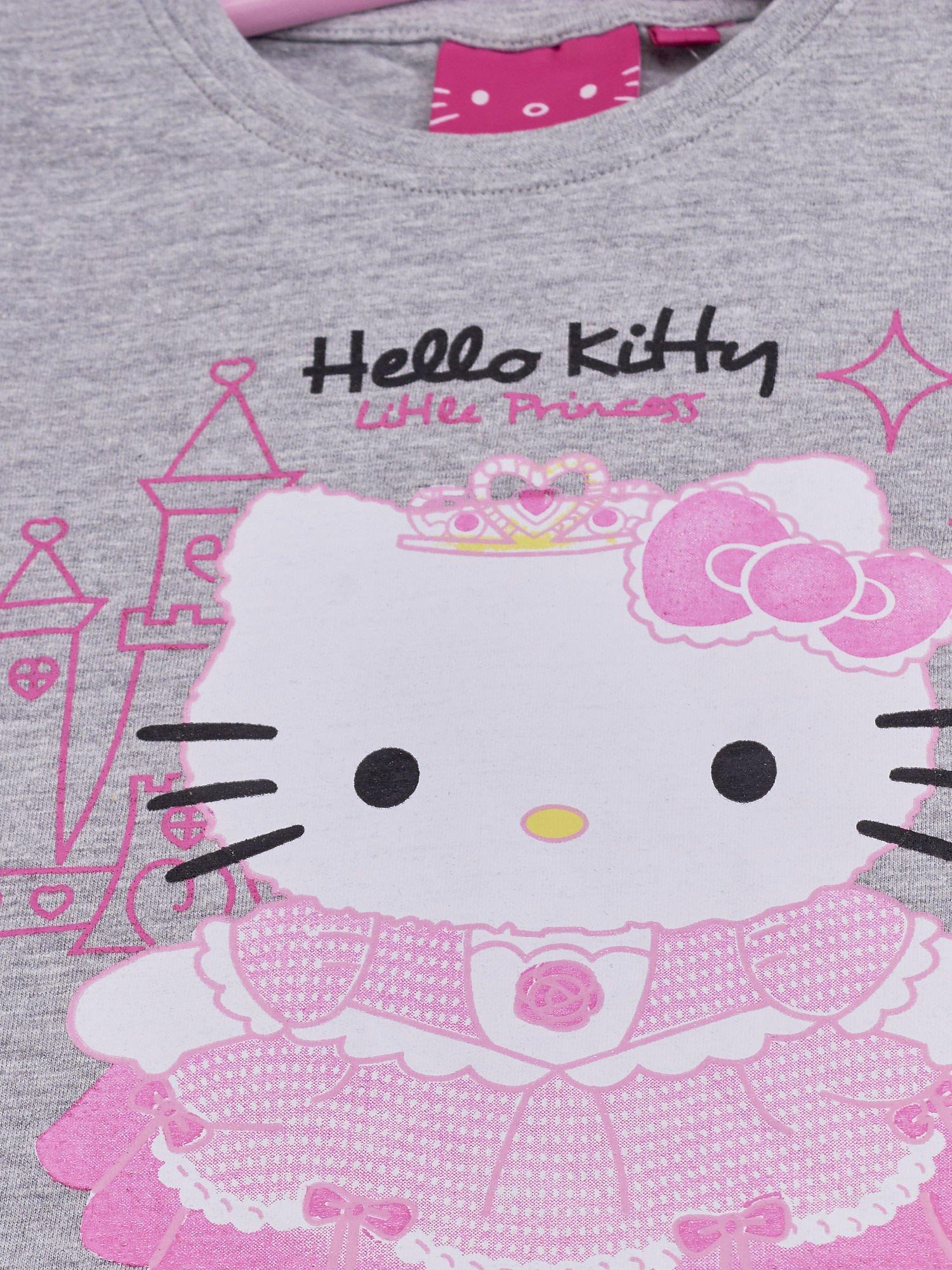 Szary t-shirt dla dziewczynki HELLO KITTY                                  zdj.                                  4