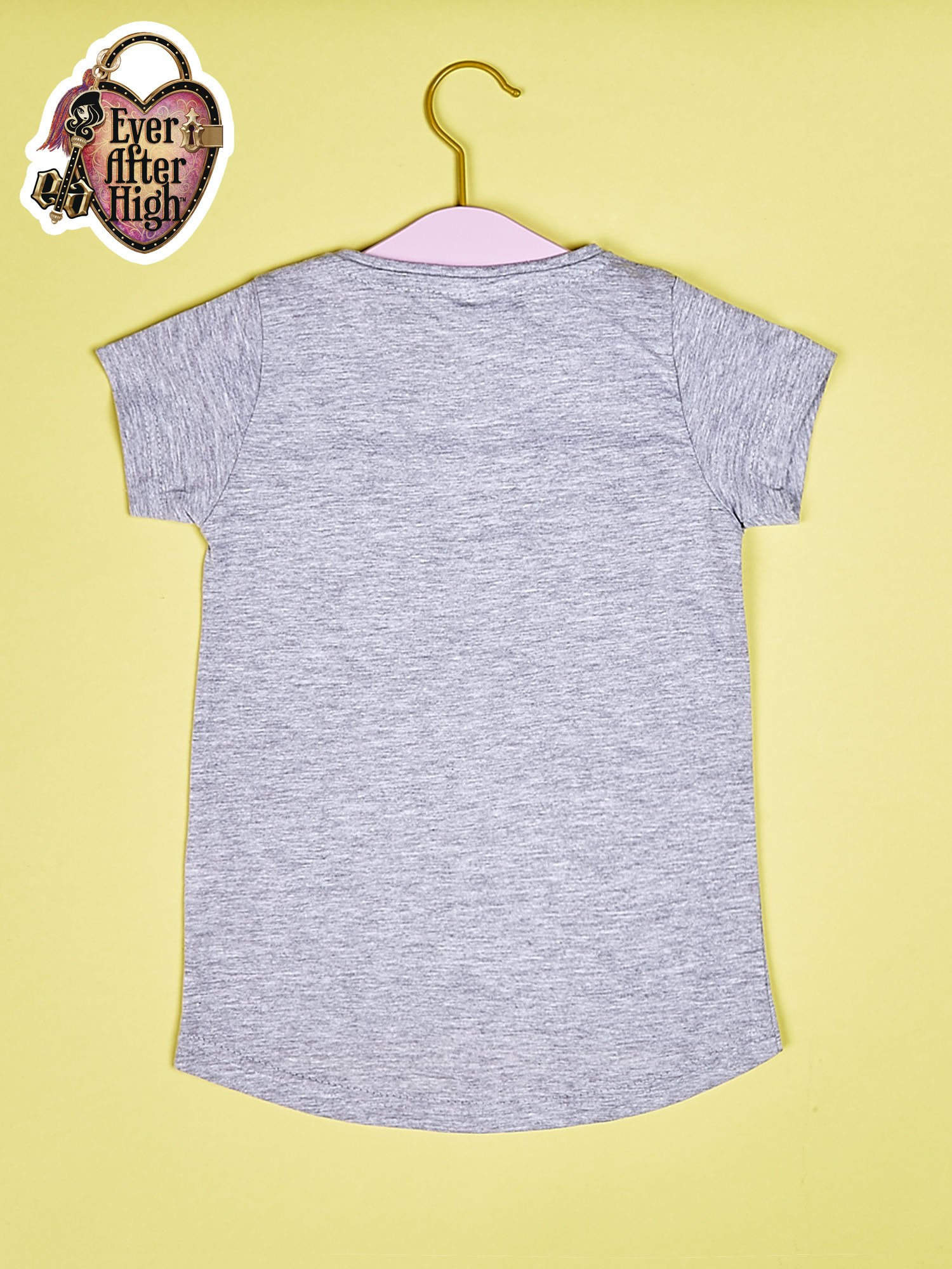 Szary t-shirt dla dziewczynki z nadrukiem EVER AFTER HIGH                                  zdj.                                  2