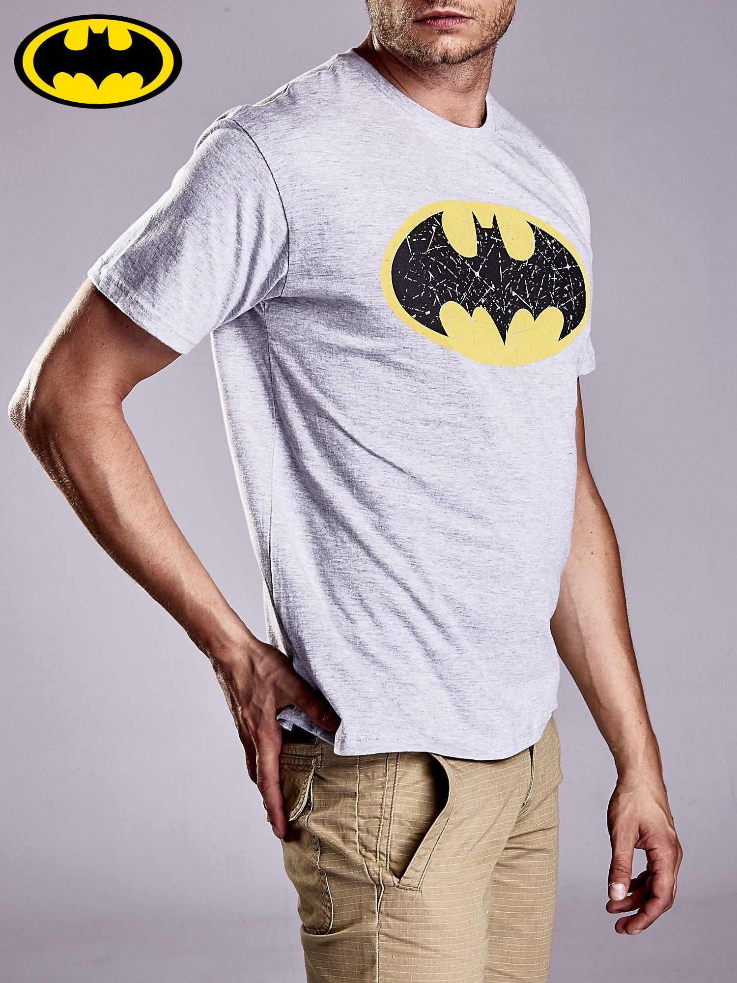 Szary t-shirt męski BATMAN                                  zdj.                                  4