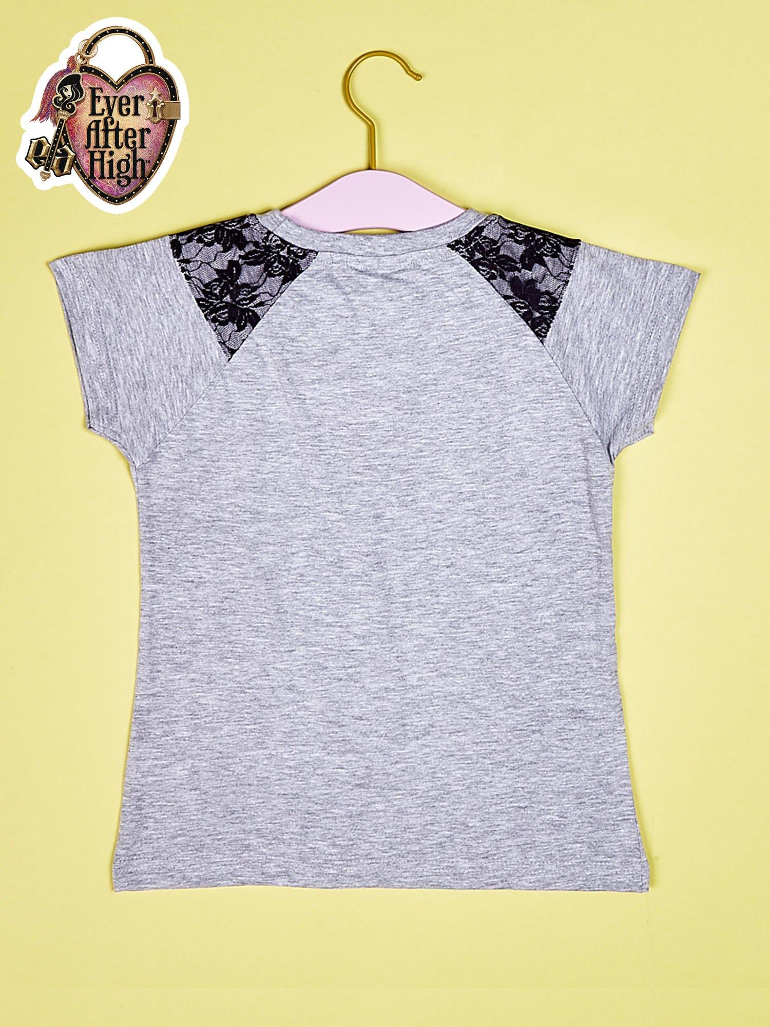 Szary t-shirt z koronką dla dziewczynki EVER AFTER HIGH                                  zdj.                                  2