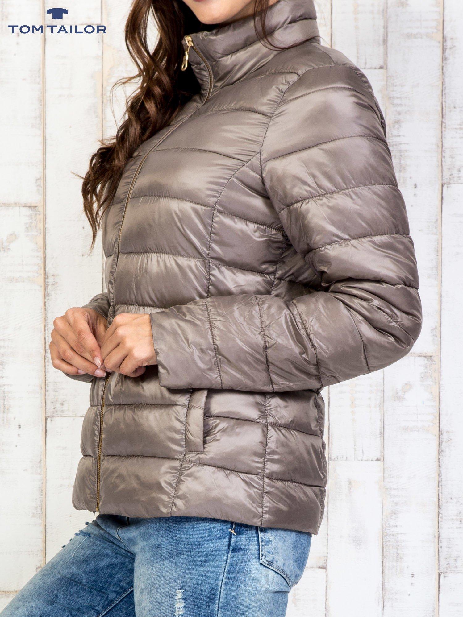 TOM TAILOR Brązowy dwuczęściowy płaszcz z kurtką pikowaną                                  zdj.                                  11