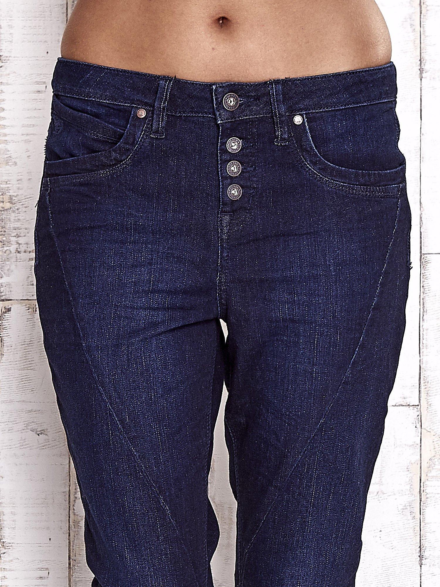 TOM TAILOR Ciemnoniebieskie modułowe spodnie jeansowe                                   zdj.                                  4