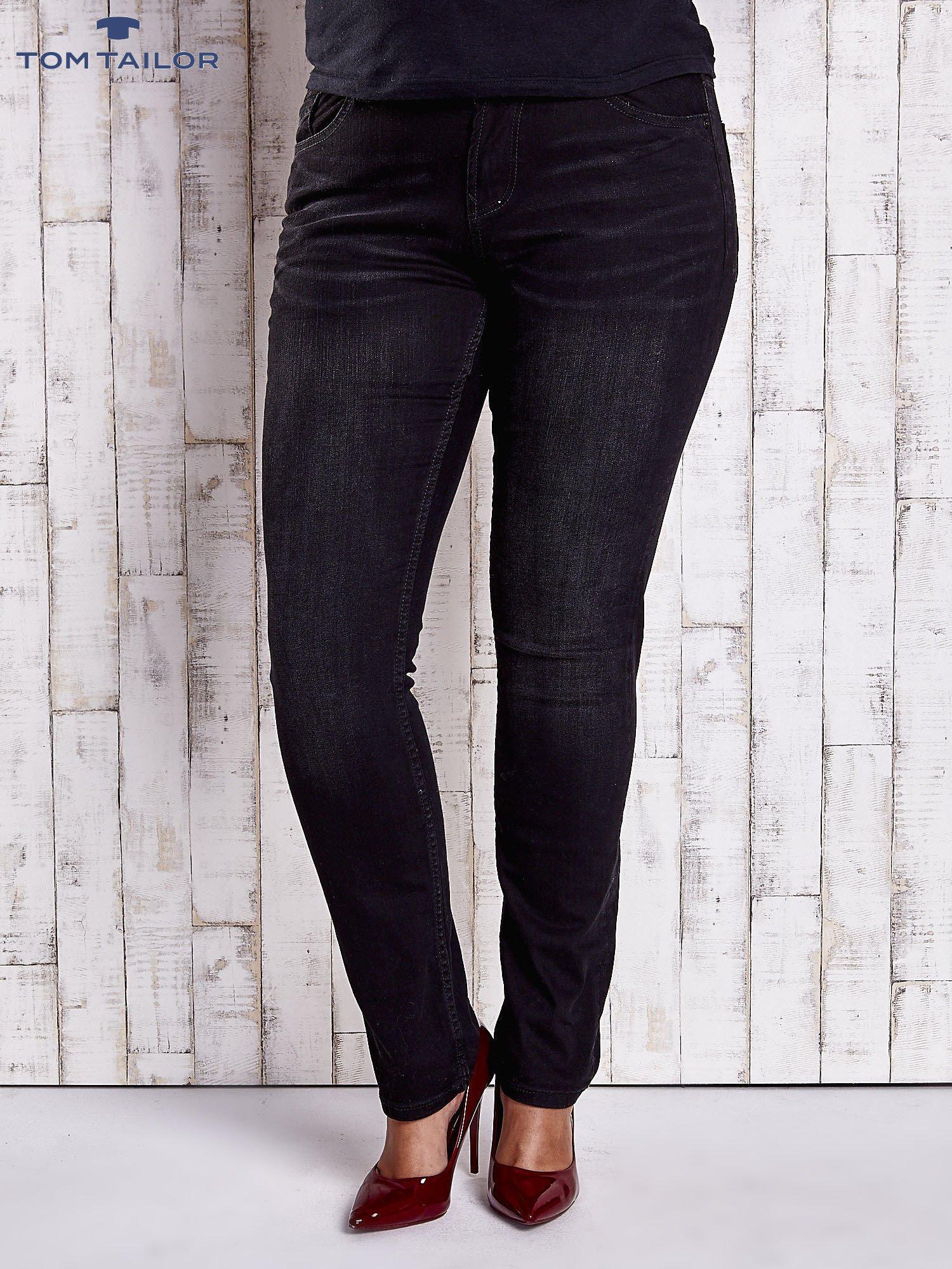 TOM TAILOR Czarne proste spodnie ze stretchem PLUS SIZE                                  zdj.                                  1