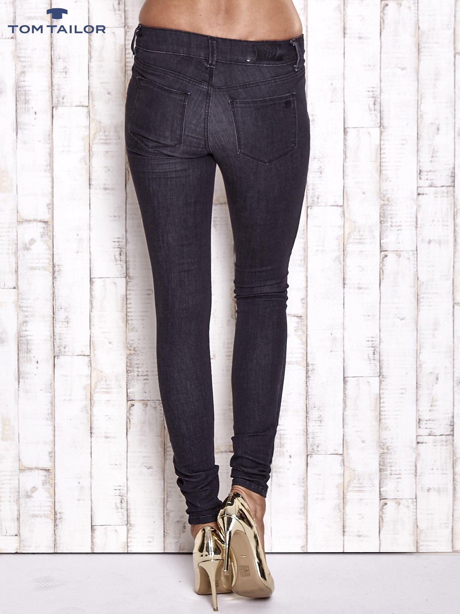 TOM TAILOR Czarne spodnie jeansowe ze stretchem                                  zdj.                                  2