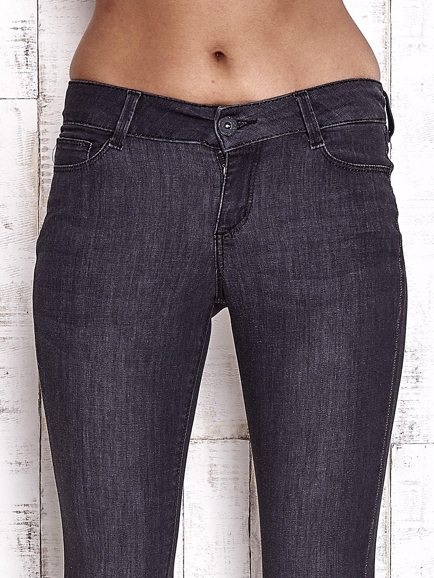 TOM TAILOR Czarne spodnie jeansowe ze stretchem                                  zdj.                                  4