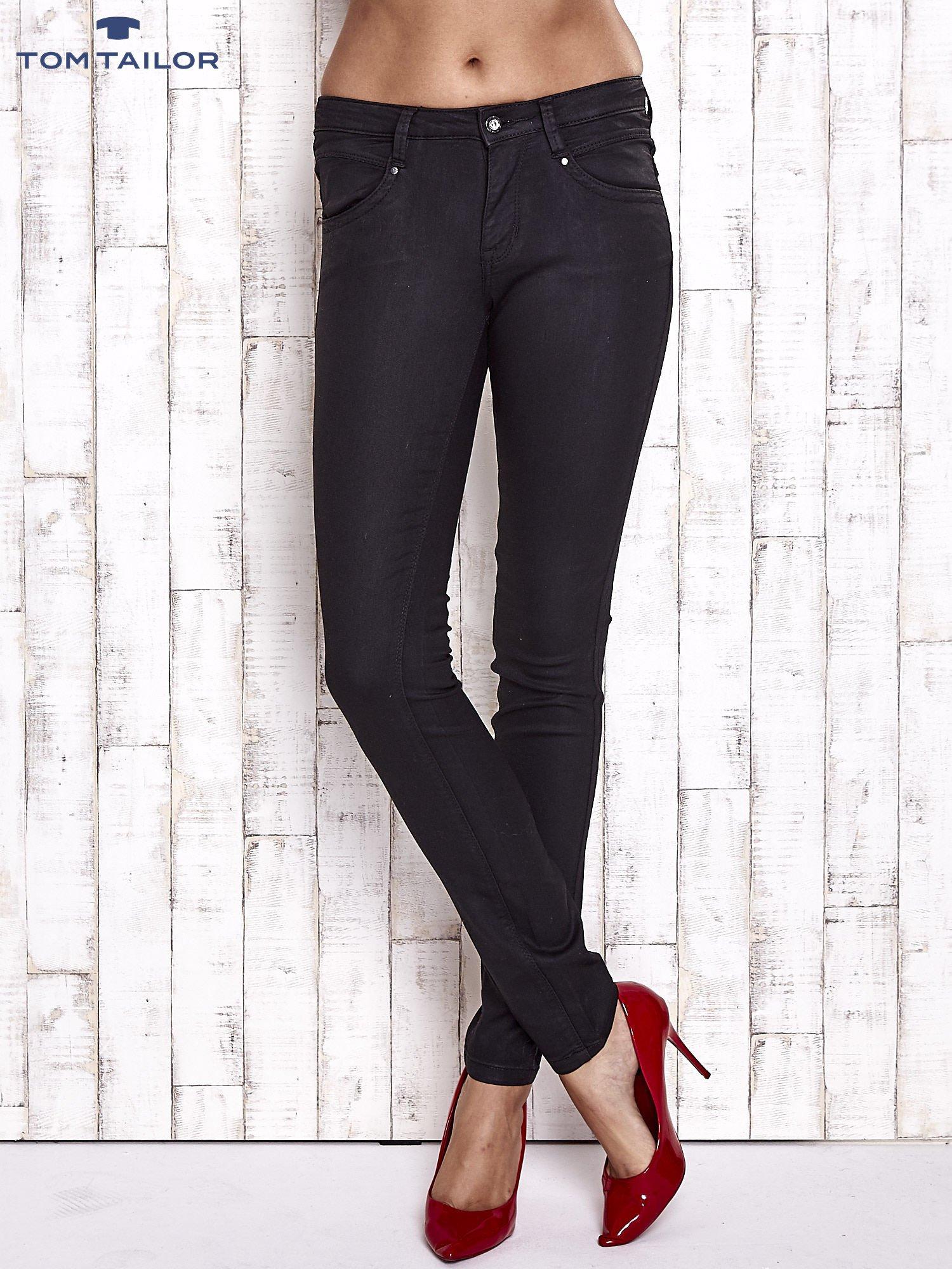 TOM TAILOR Czarne spodnie skinny jeans                                   zdj.                                  1