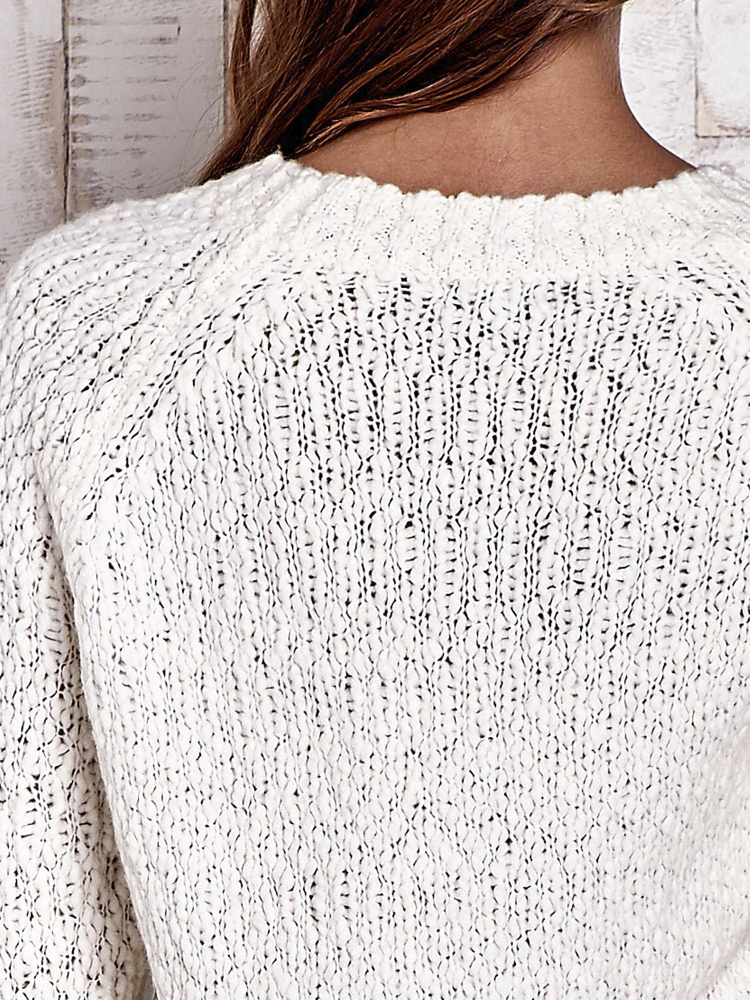 TOM TAILOR Ecru włóczkowy sweter                                  zdj.                                  6