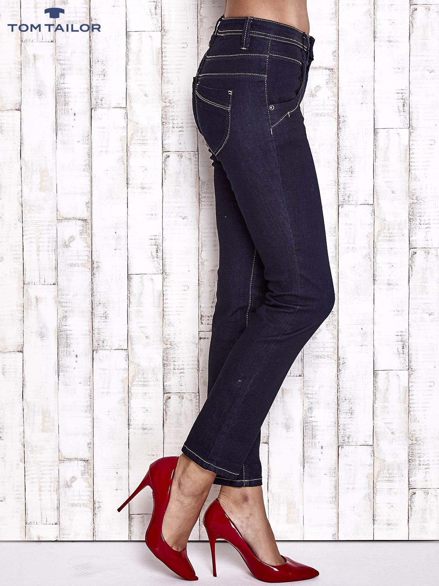 TOM TAILOR Granatowe spodnie regular jeans                                  zdj.                                  3