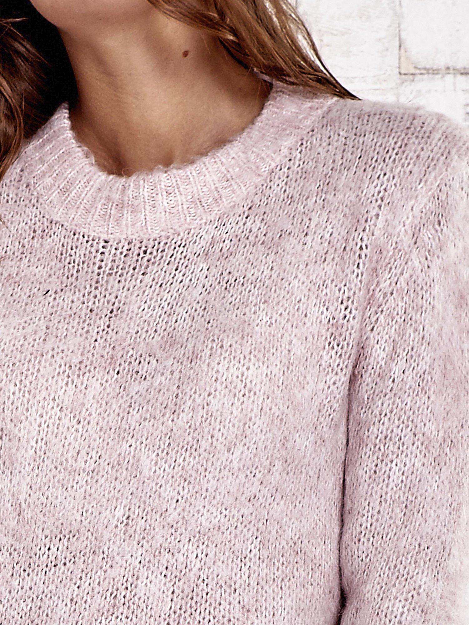 TOM TAILOR Różowy sweter z dodatkiem wełny z alpaki                                  zdj.                                  6