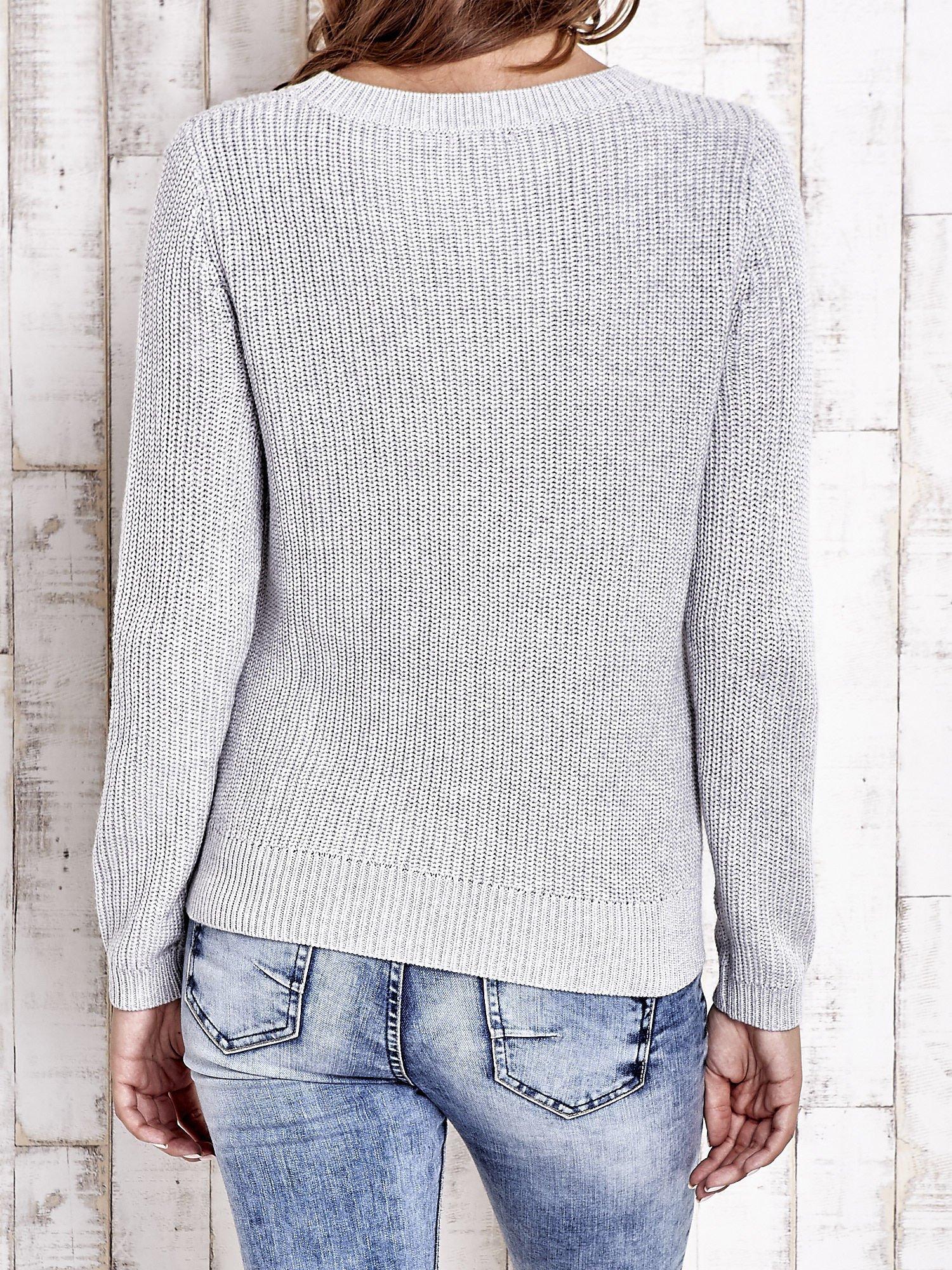 TOM TAILOR Szary sweter z rozcięciami                                  zdj.                                  4