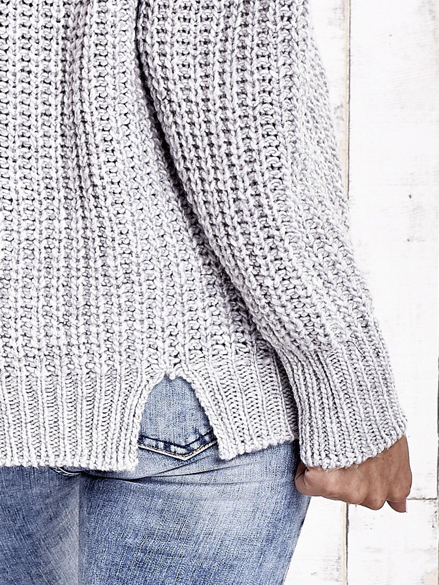 TOM TAILOR Szary wełniany sweter o grubym splocie                                  zdj.                                  8