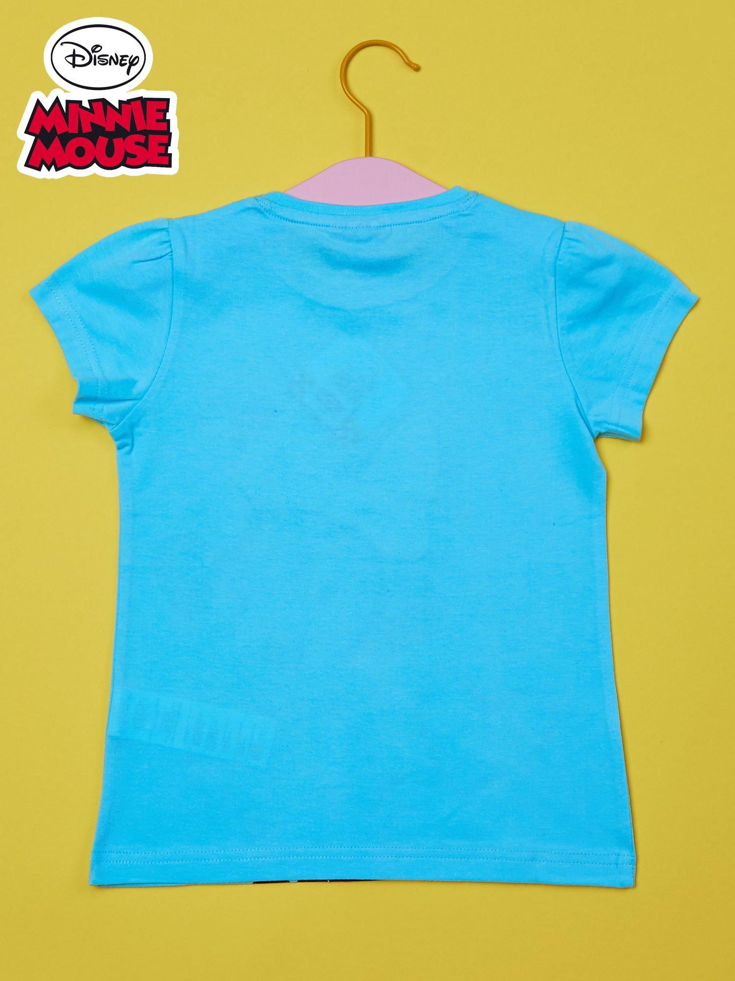 Turkusowy t-shirt dla dziewczynki z cekinami MYSZKA MIKI                                  zdj.                                  2