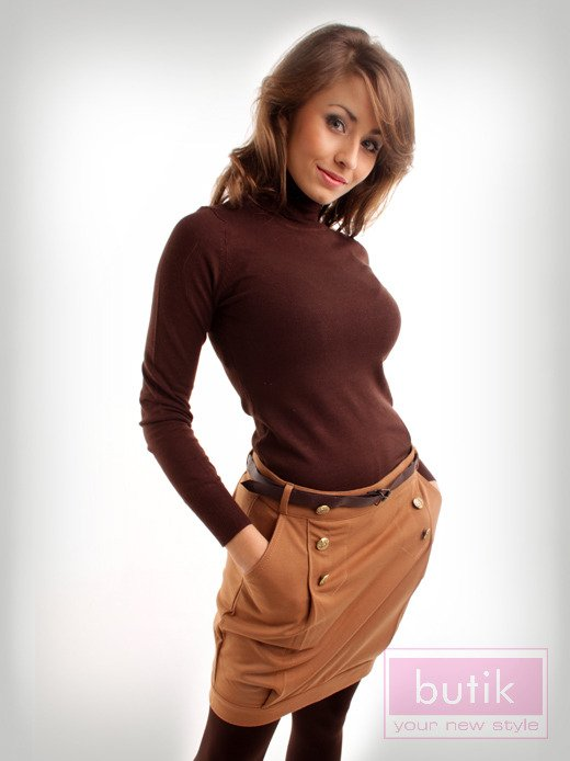 Zestaw: golf + spódnica + legginsy                                  zdj.                                  2
