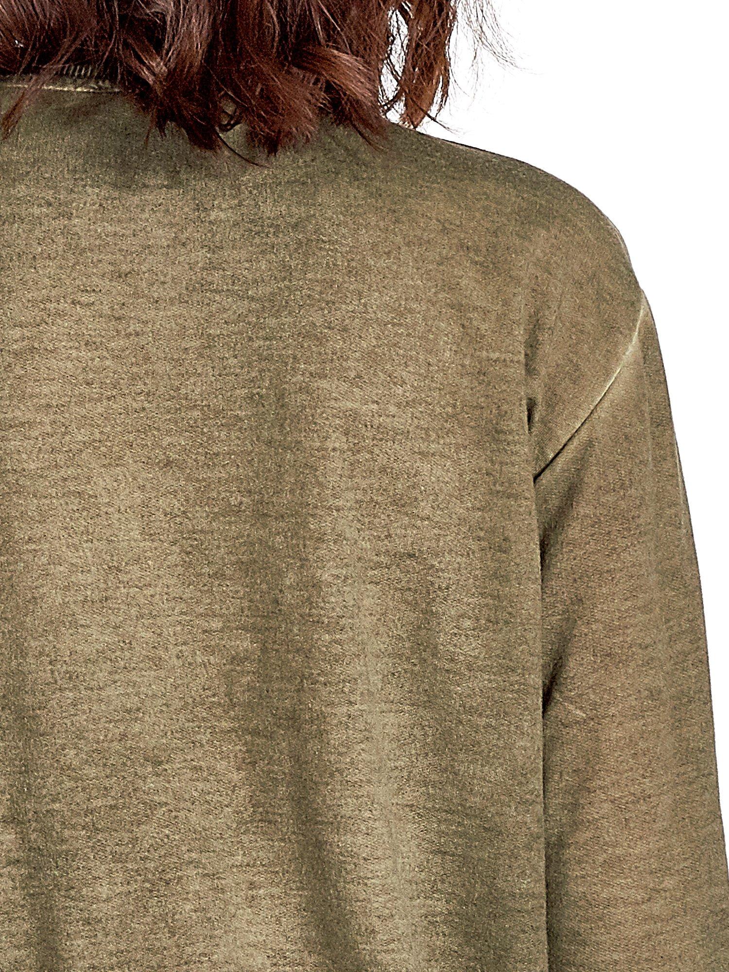 Zielona bluza z nadrukiem tygrysa i dżetami                                  zdj.                                  5