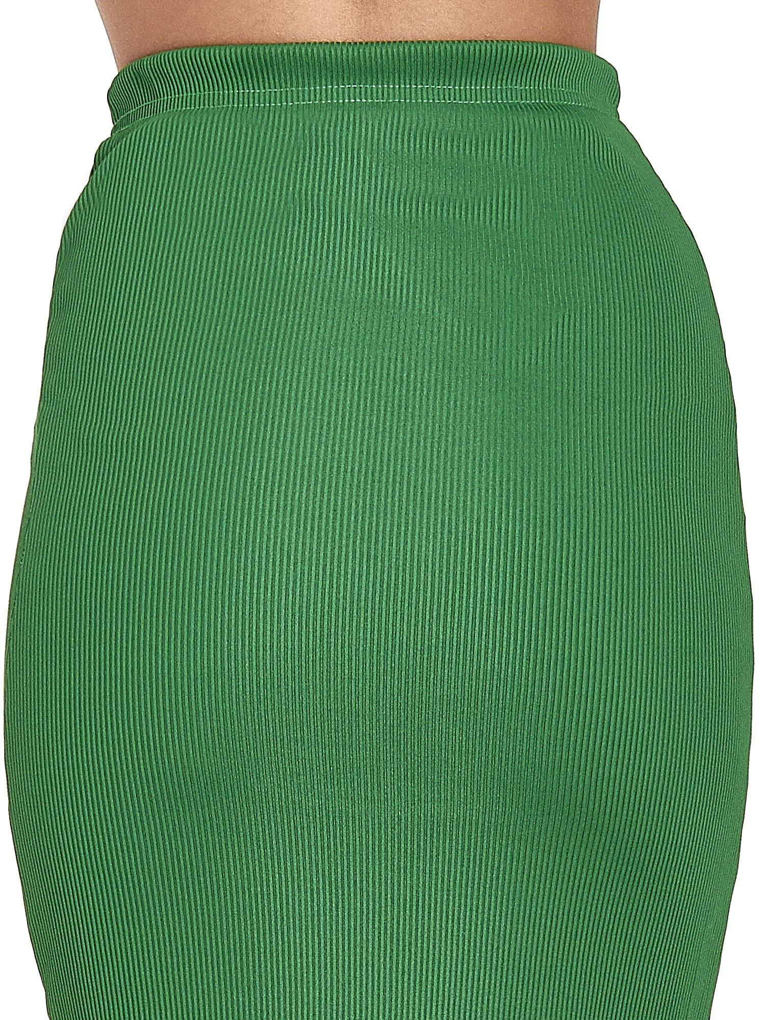 Zielona spódnica midi z suwakiem z przodu                                  zdj.                                  7