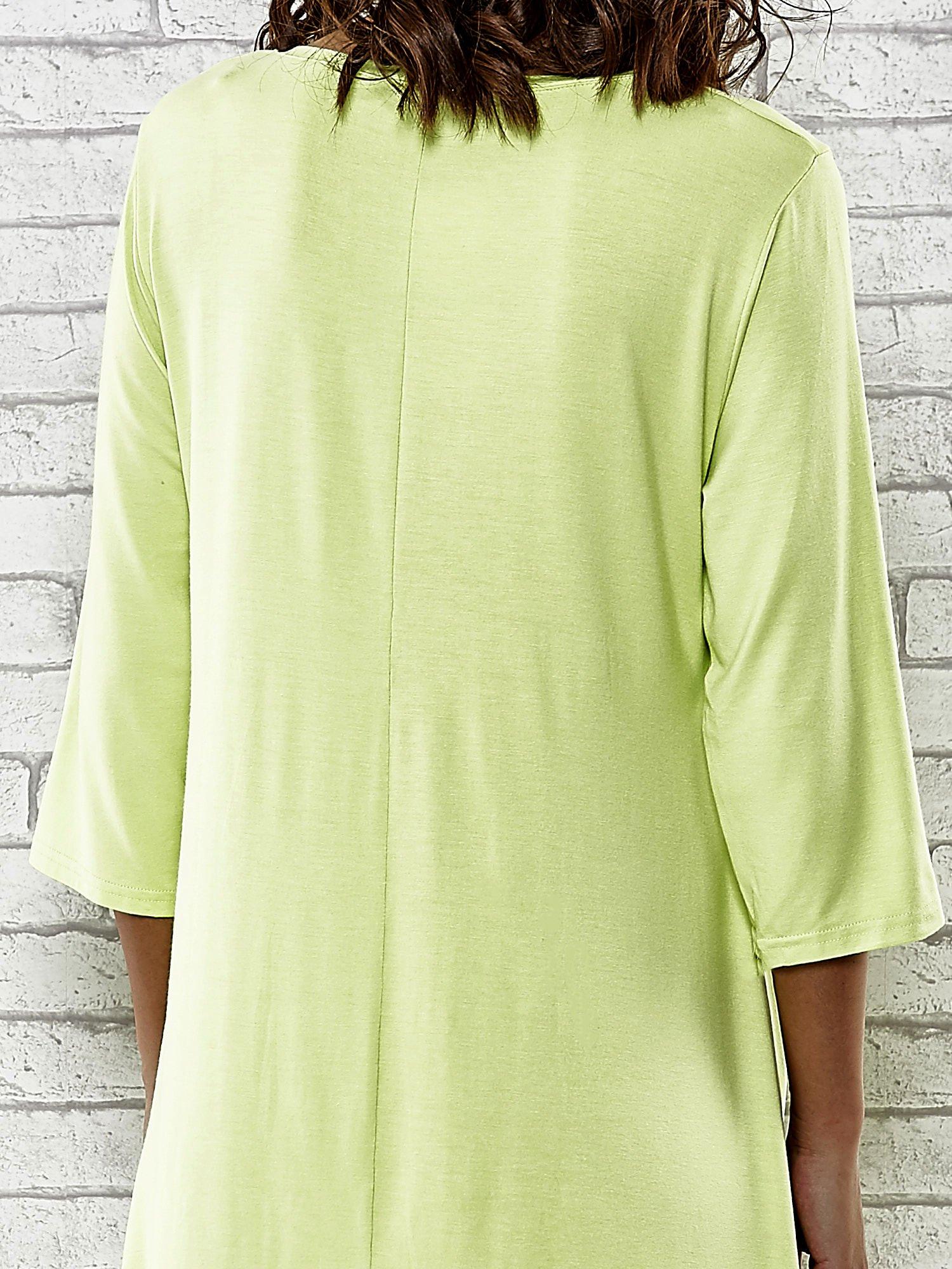 Zielona sukienka damska z nadrukiem kotów                                  zdj.                                  6