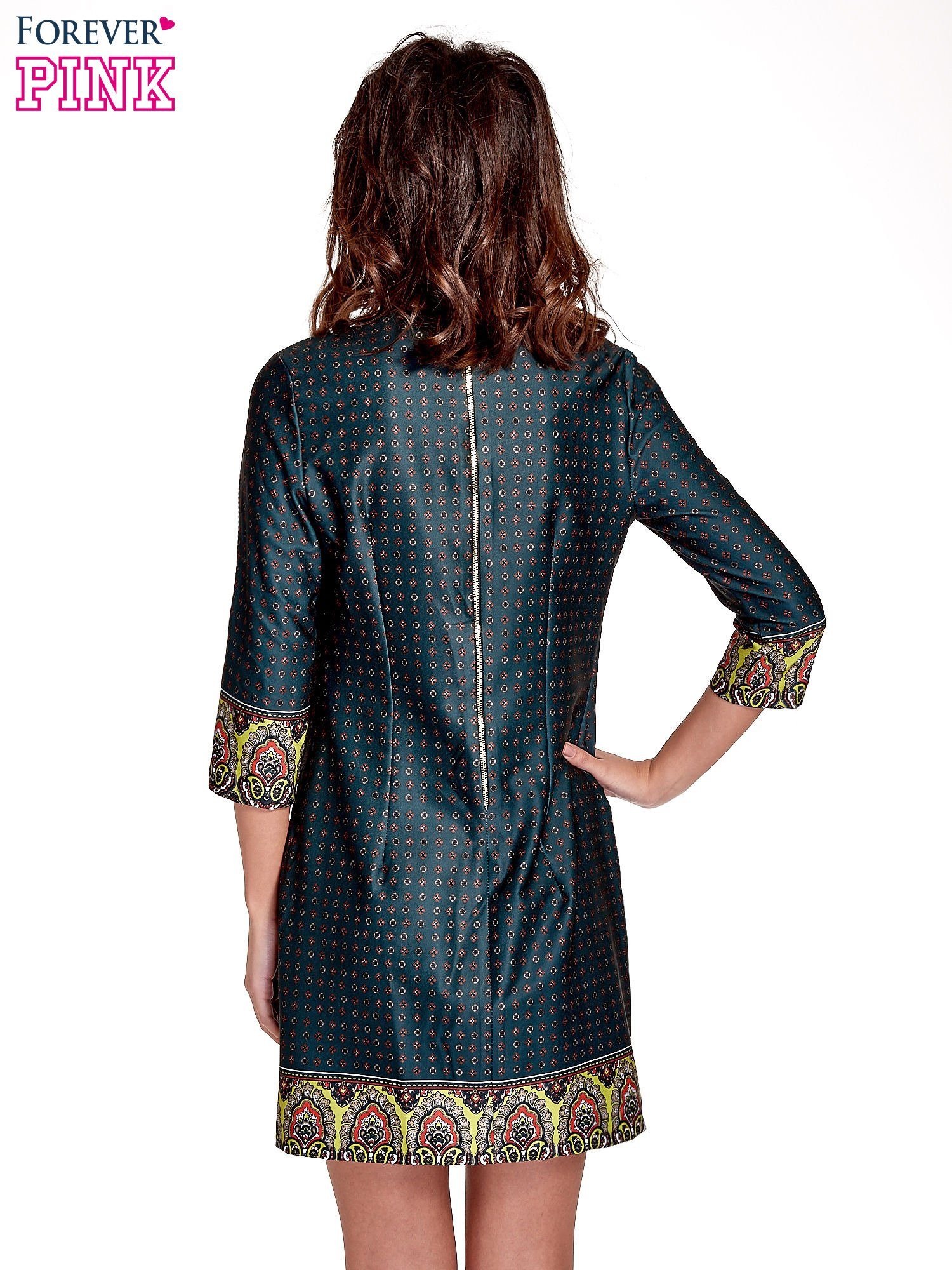 57a60d461d Zielona sukienka w indyjskim stylu - Sukienka na co dzień - sklep ...