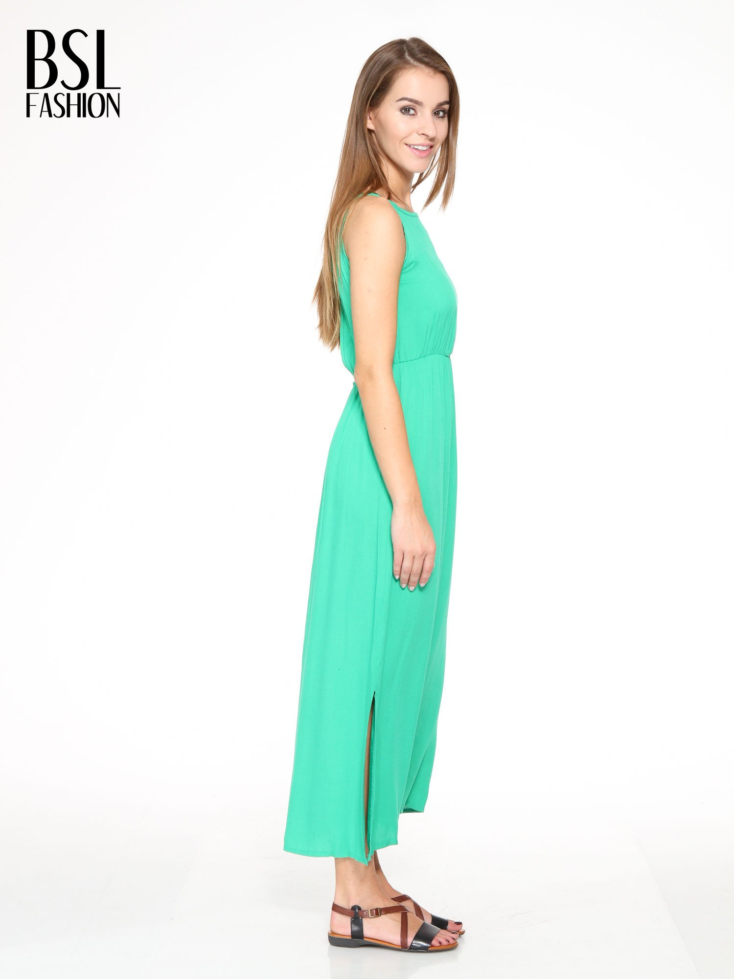 Zielona sukienka w stylu greckim                                  zdj.                                  2