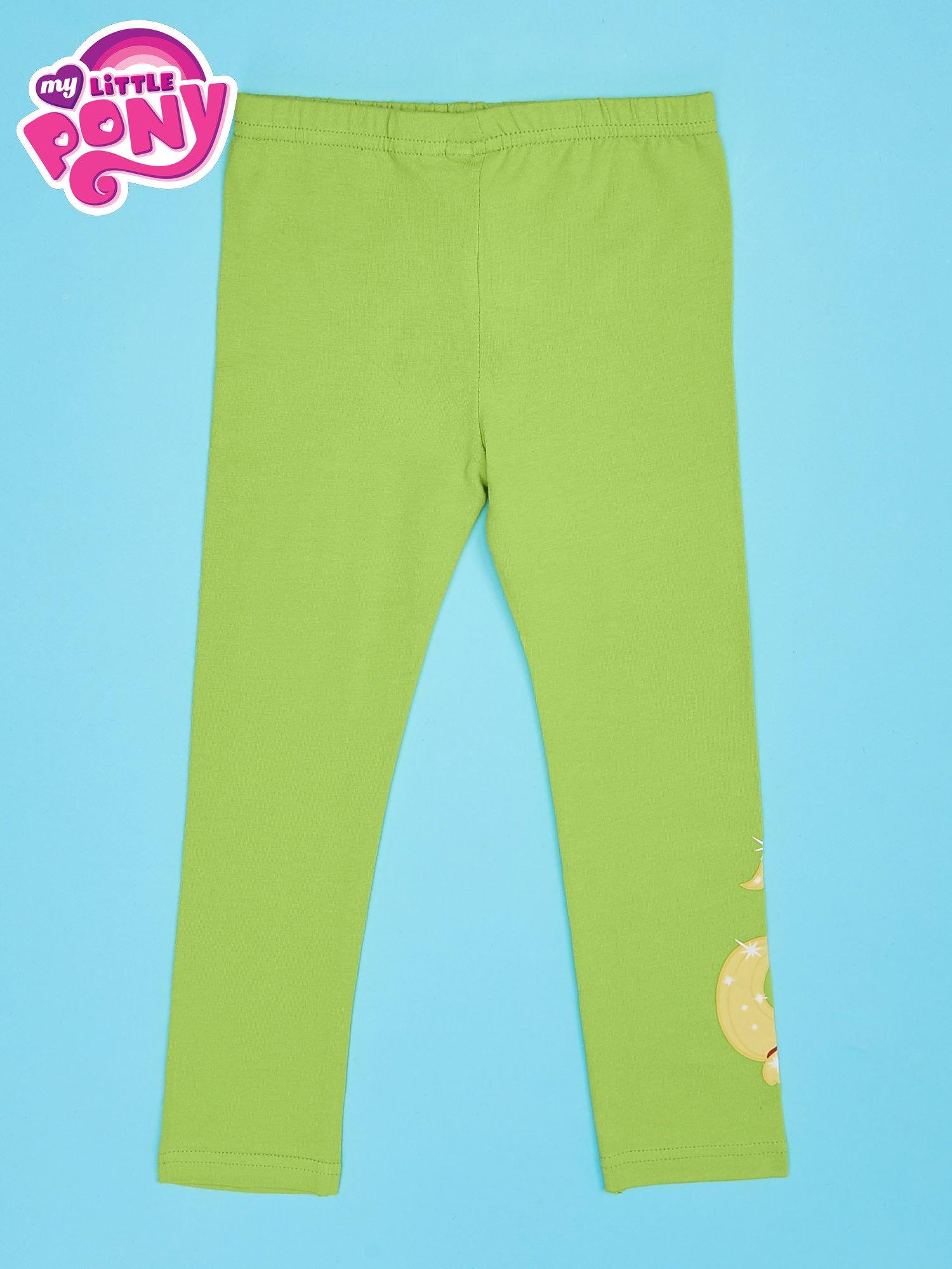 Zielone legginsy dla dziewczynki z nadrukiem MY LITTLE PONY                                  zdj.                                  2