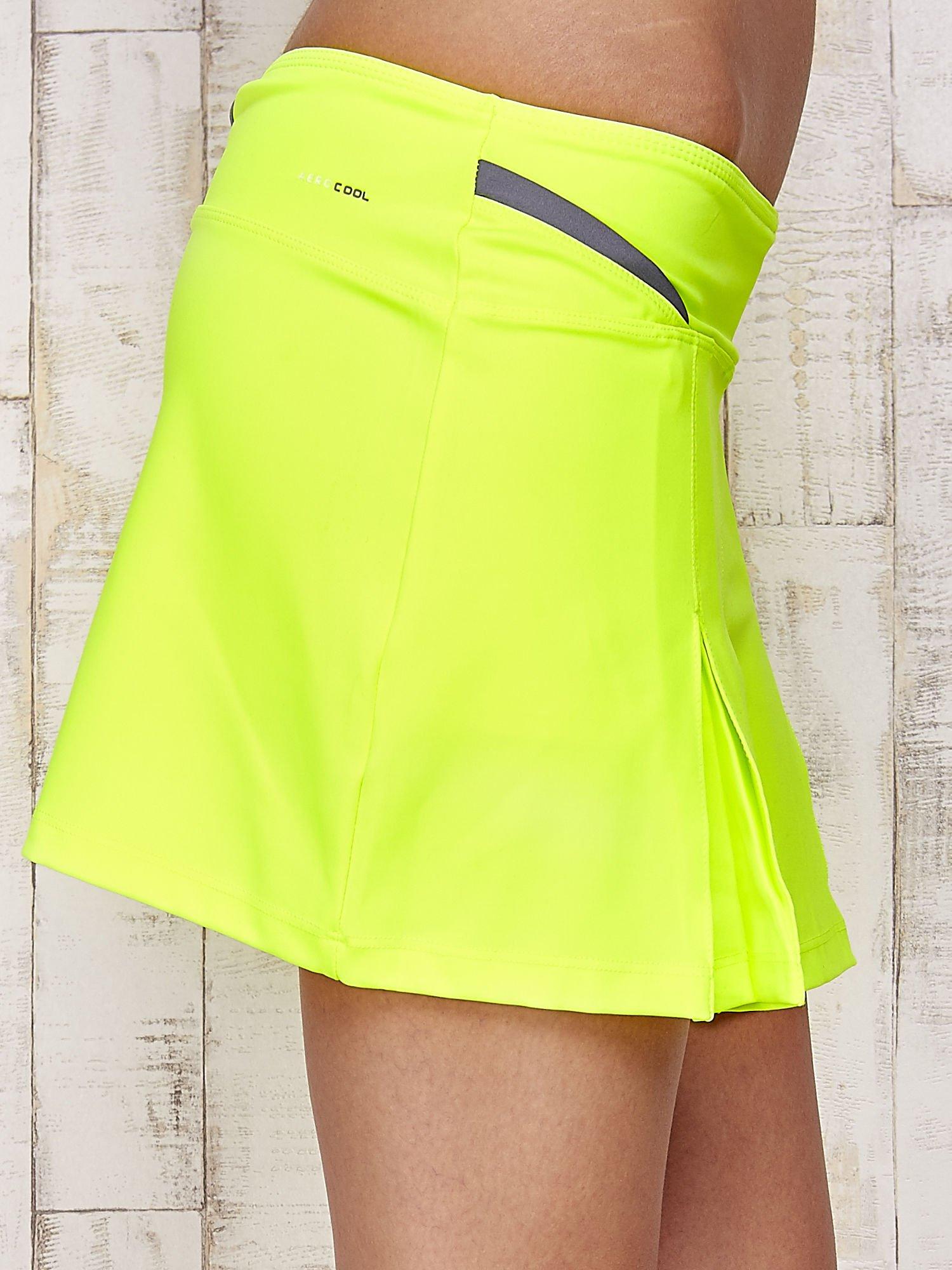 Zielone spodenki spódniczka tenisowa z szarymi wstawkami                                  zdj.                                  5