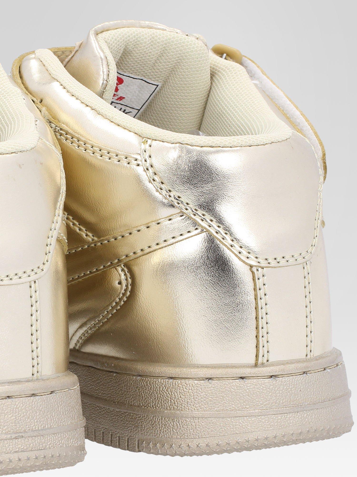 Złote buty sportowe Heather za kostkę na grubej podeszwie                                  zdj.                                  6