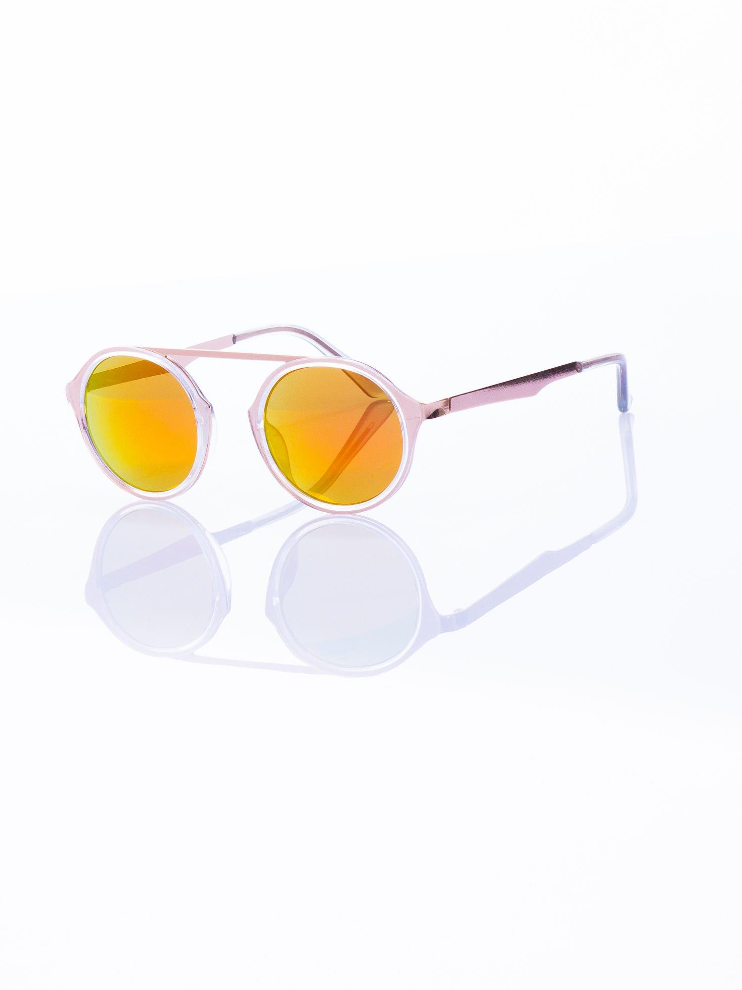 Złote okulary przeciwsłoneczne w stylu vintage retro                                  zdj.                                  2