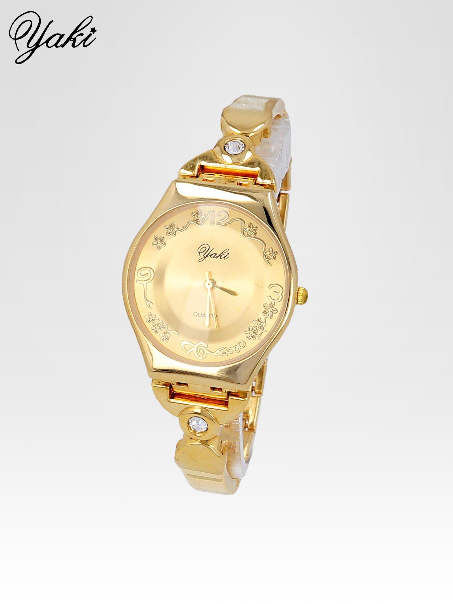 Złoty biżuteryjny zegarek damski                                  zdj.                                  2
